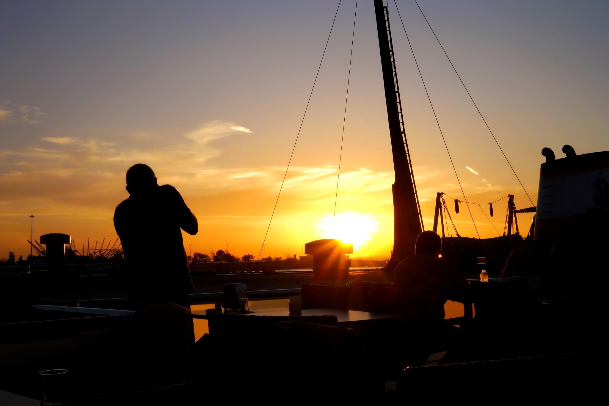 shooting sunset by Muhsin Özcan