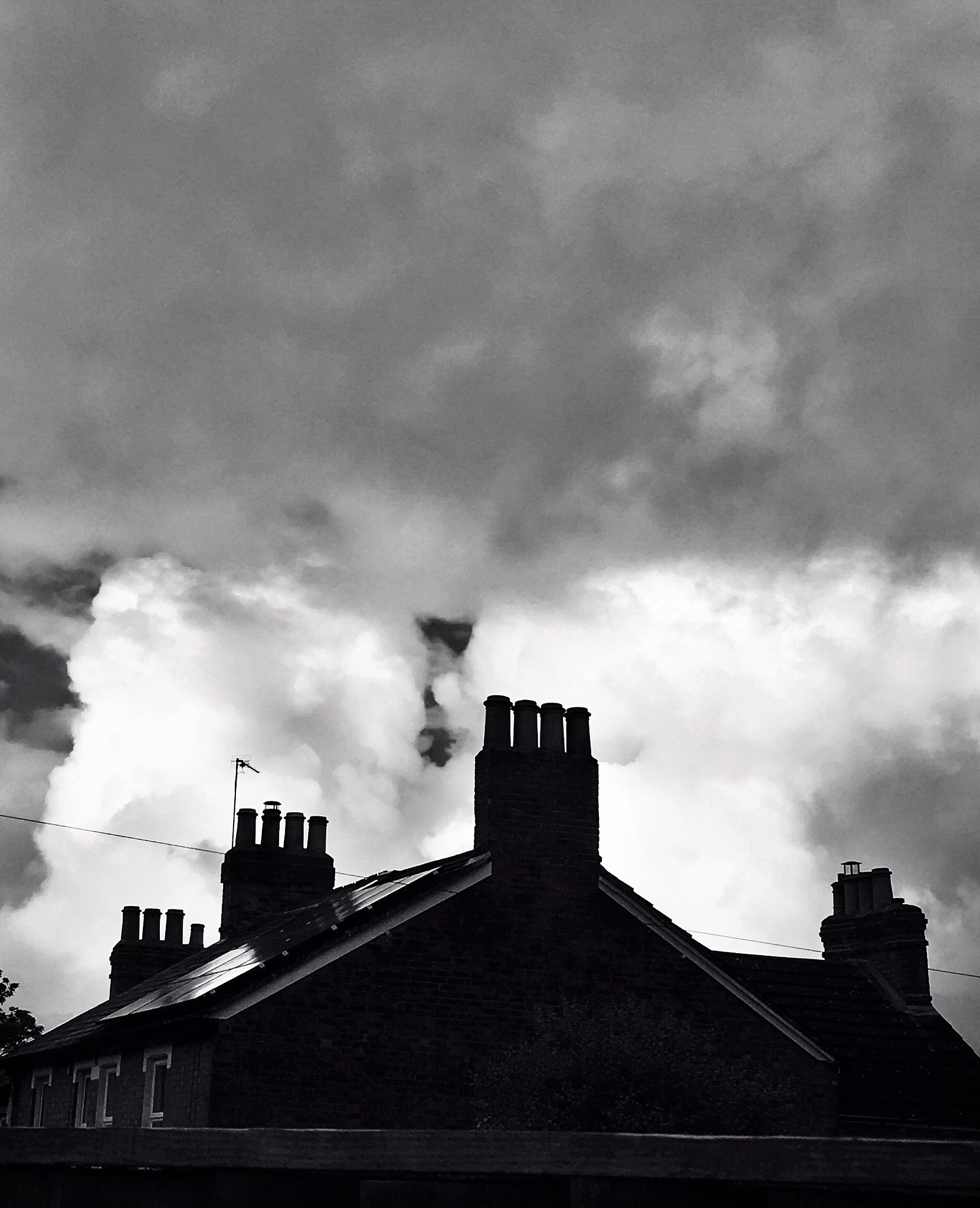 Chimneys early morning in the sky by JayBee