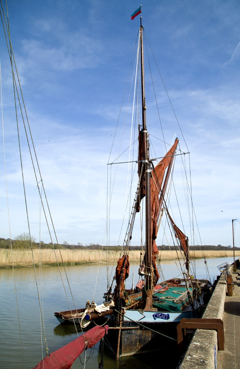 Wherry boat at Snape Maltings by viages