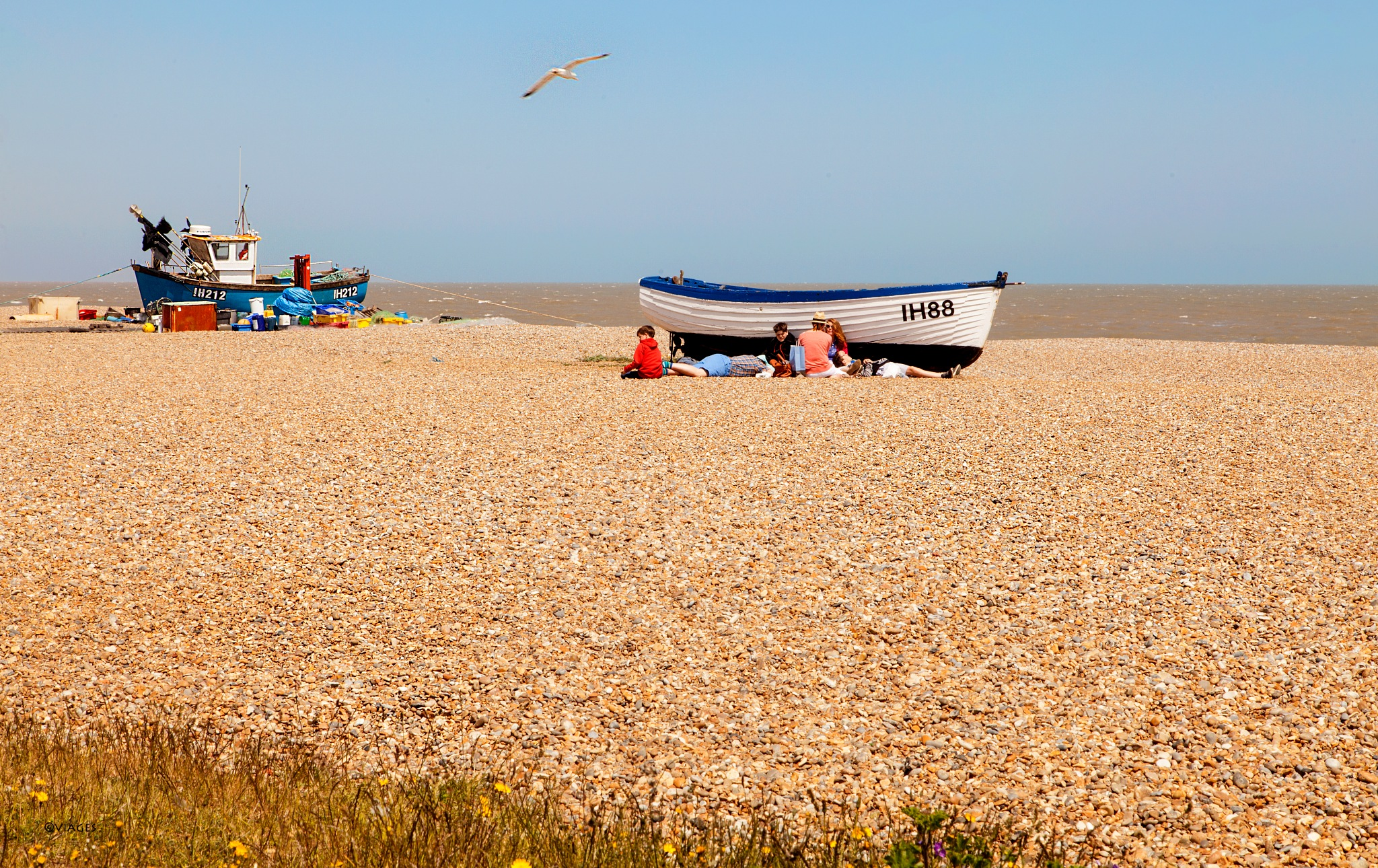 Aldeburgh beach and boats by viages