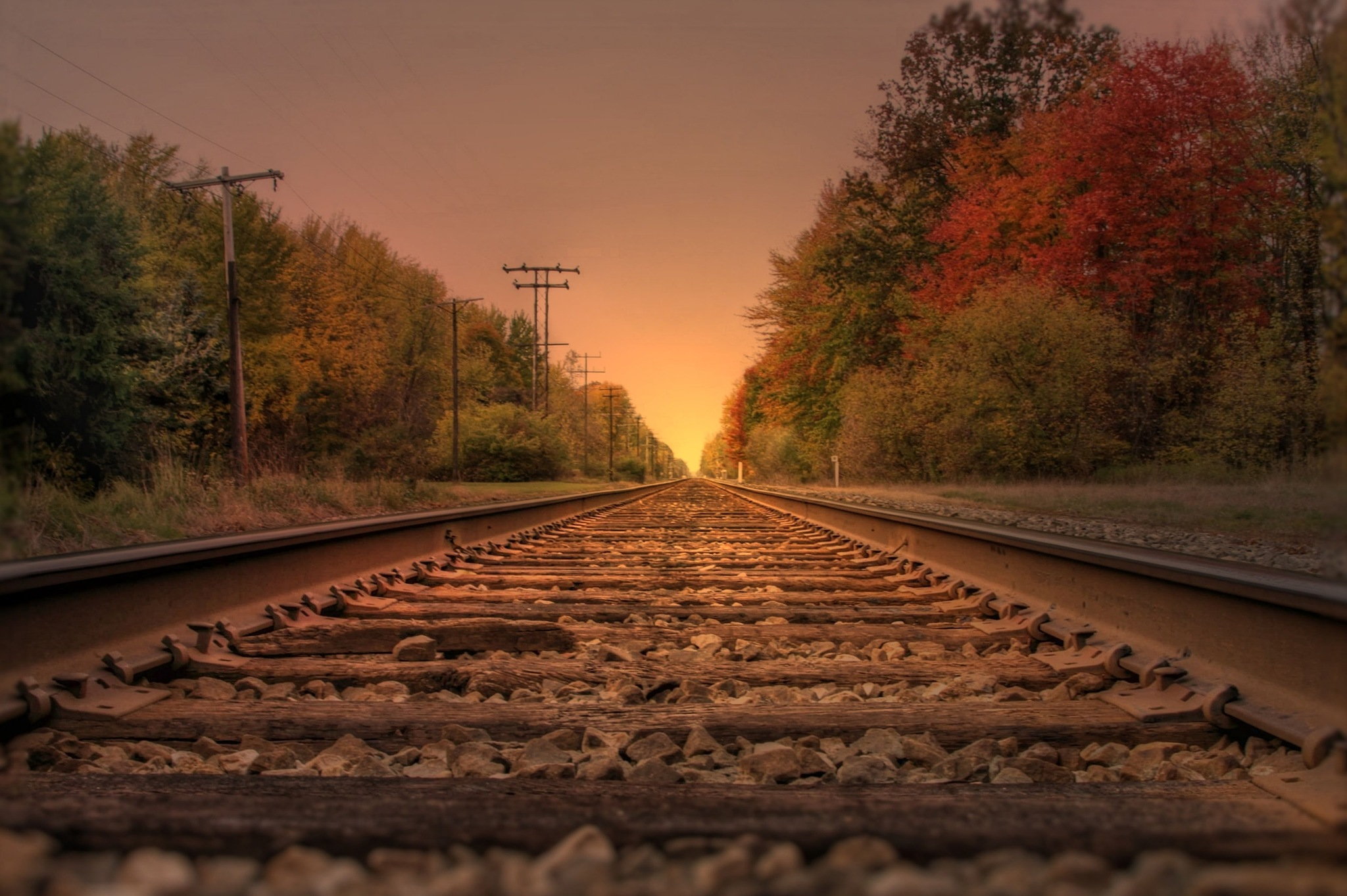 Sunrise on the Rails I by NLHammondPhotography