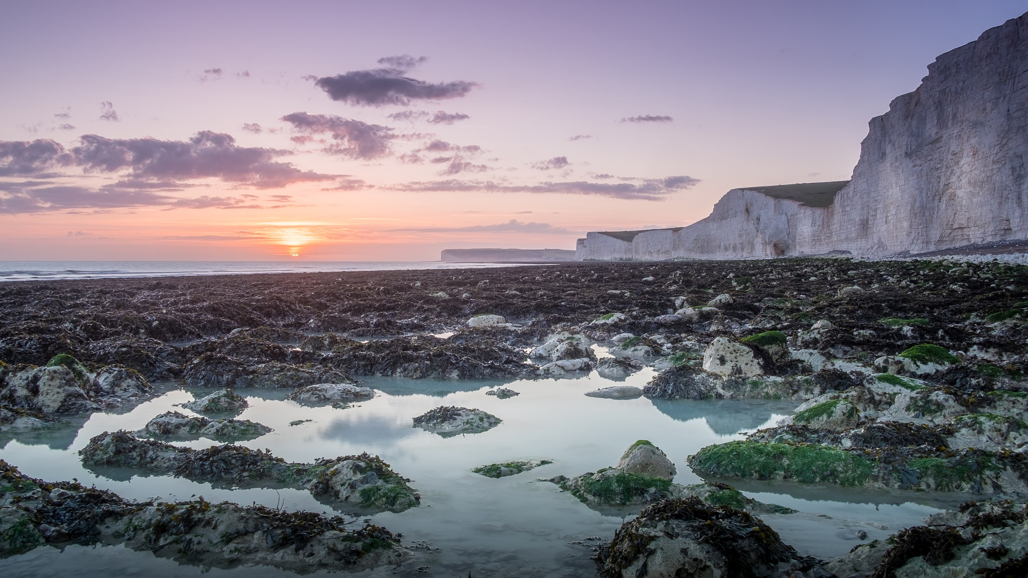 birling gap sunset by marchare