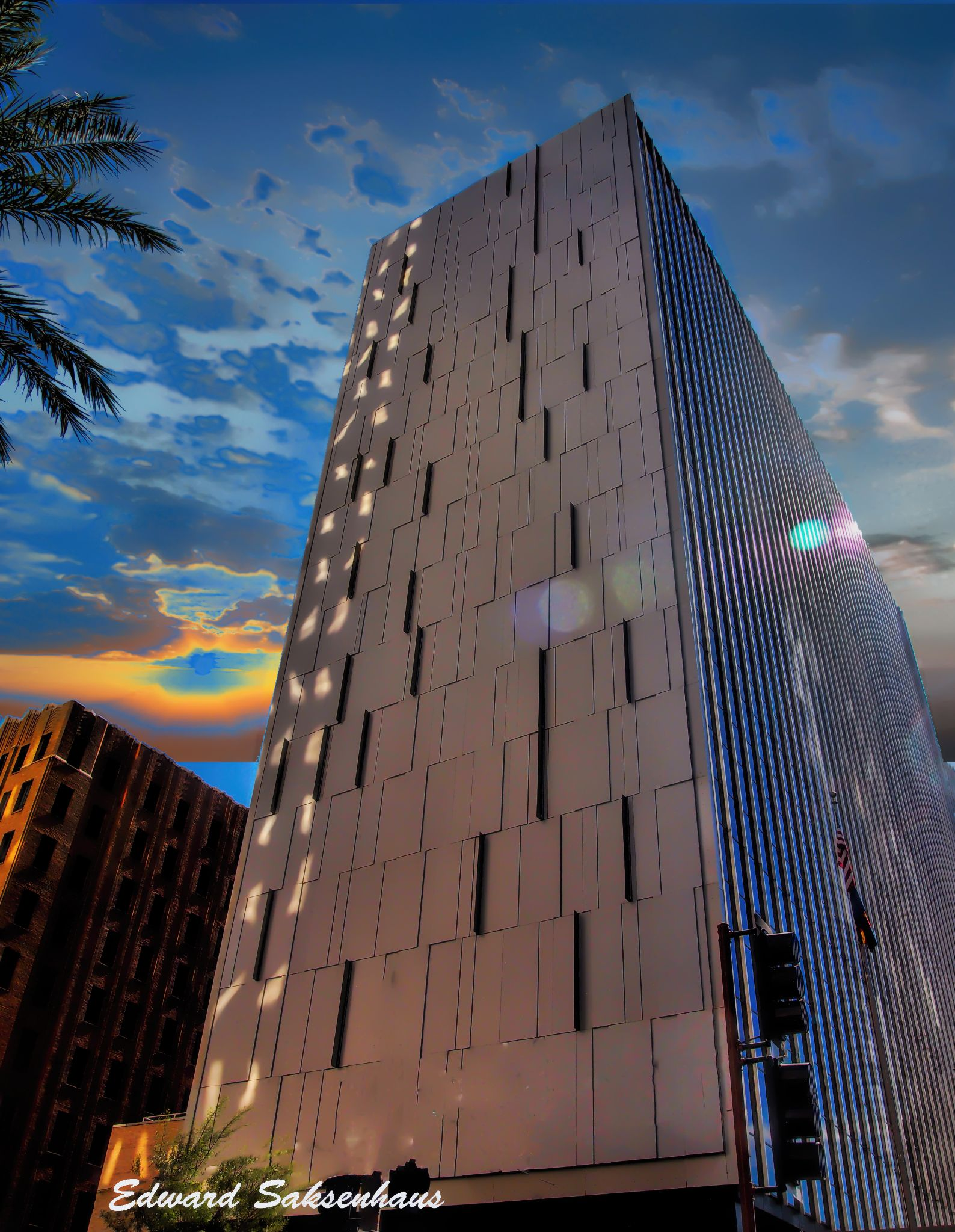 An Architectural View of Downtown Phoenix No.37. by Edward Saksenhaus
