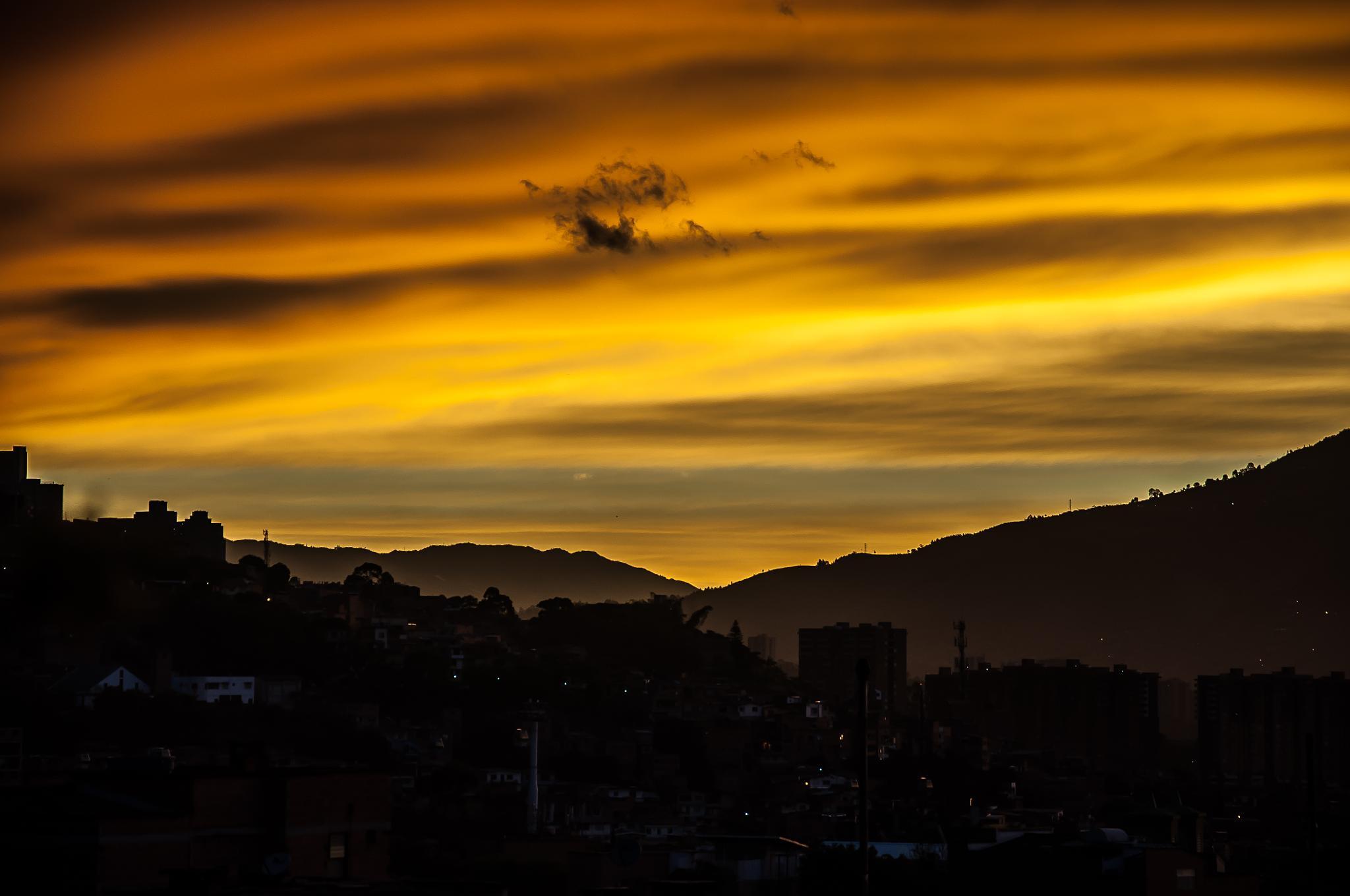 Medellín Sunrise by Andres Grajales