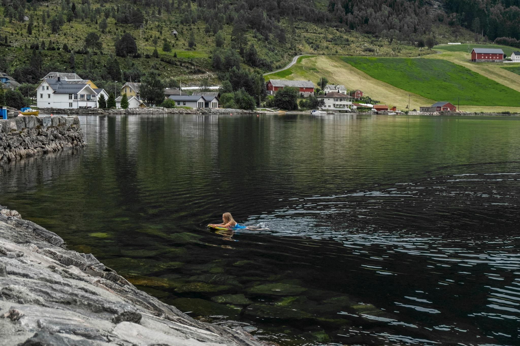Swim in the lake by Cristina MSoler