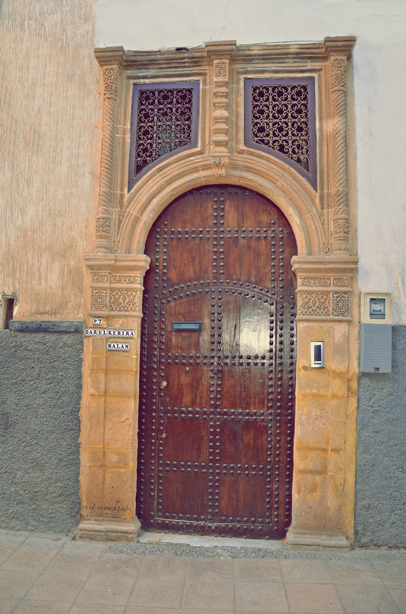 An old door in the city of Rabat by Said Mohtabi