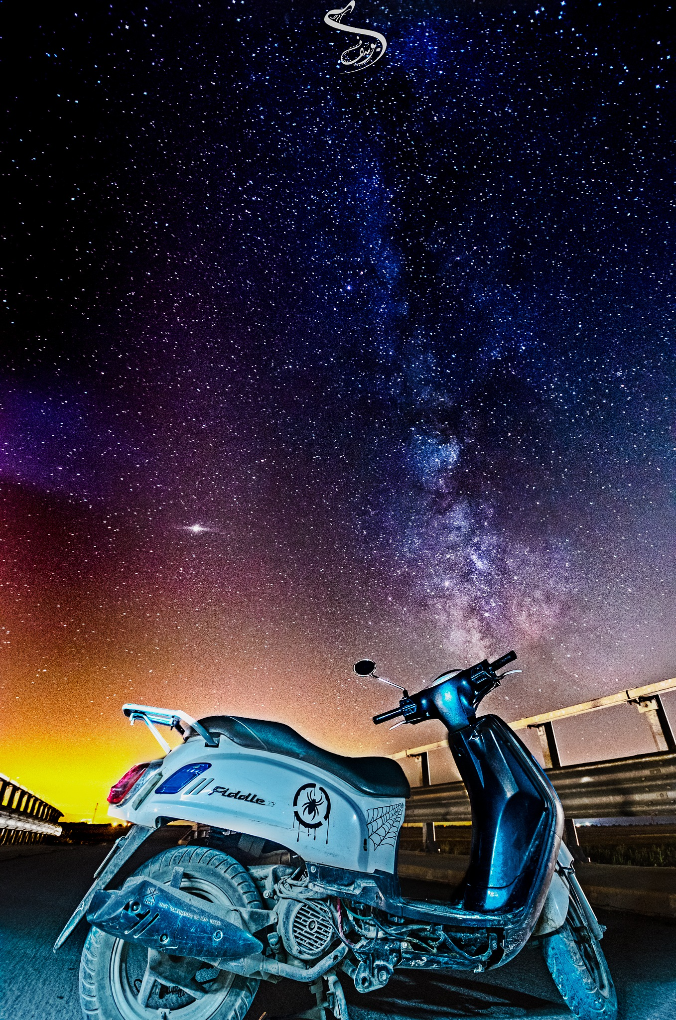 bike watching the stars by Dif Youssouf