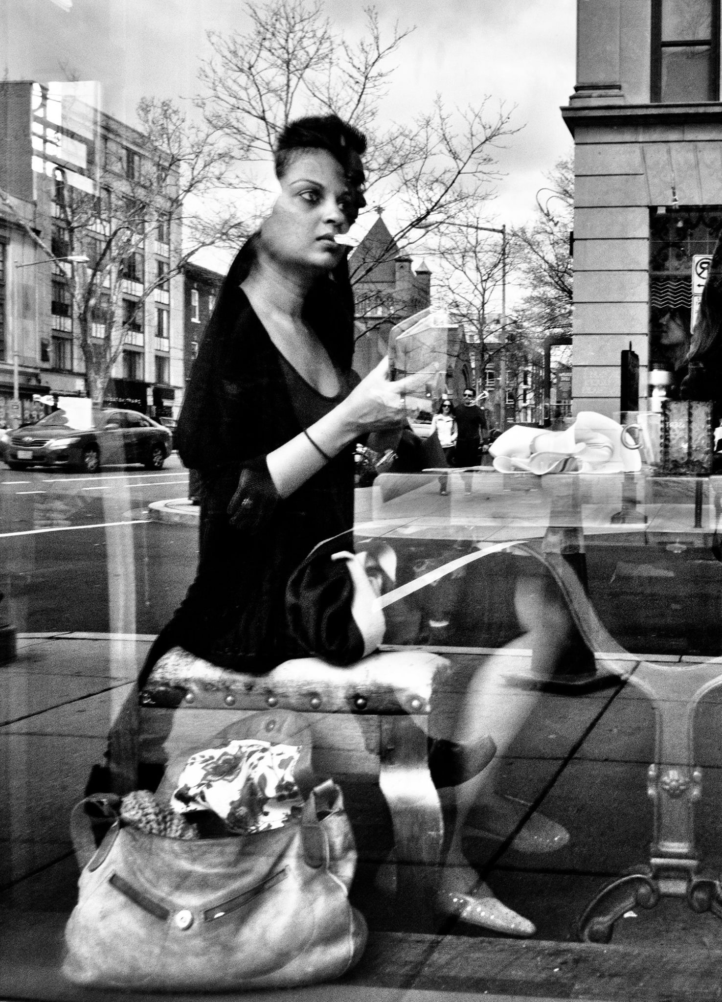 Corner Cafe Window in Washington, DC by Mike Raker
