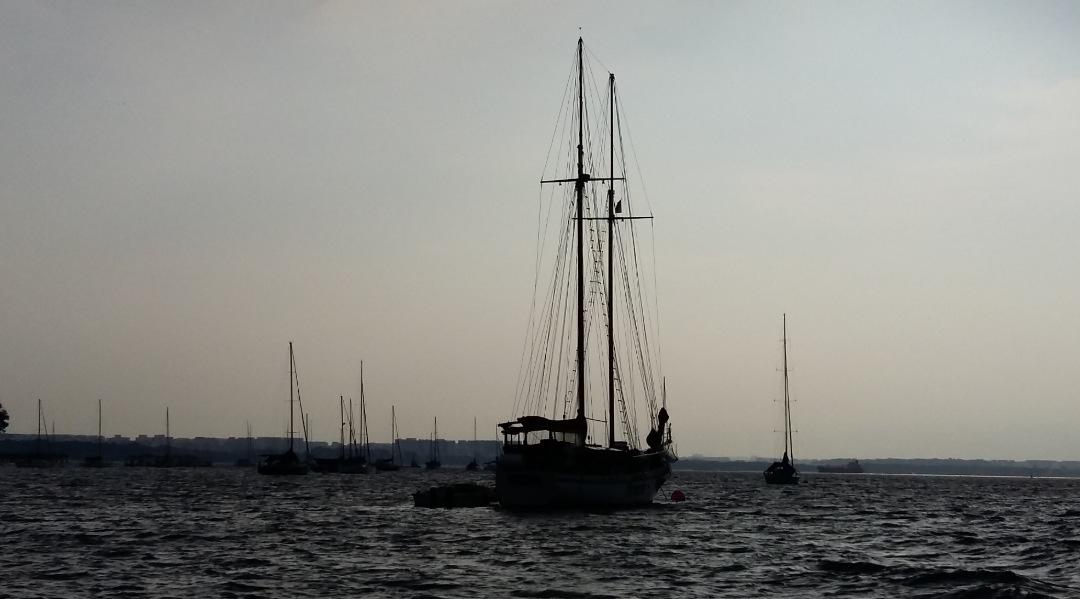 Sail alone.. by Gary Yap