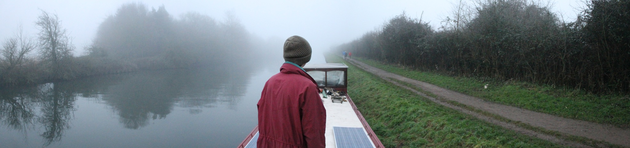 Panorama on mates boat on a cloudy day by Rudi Beauchamp