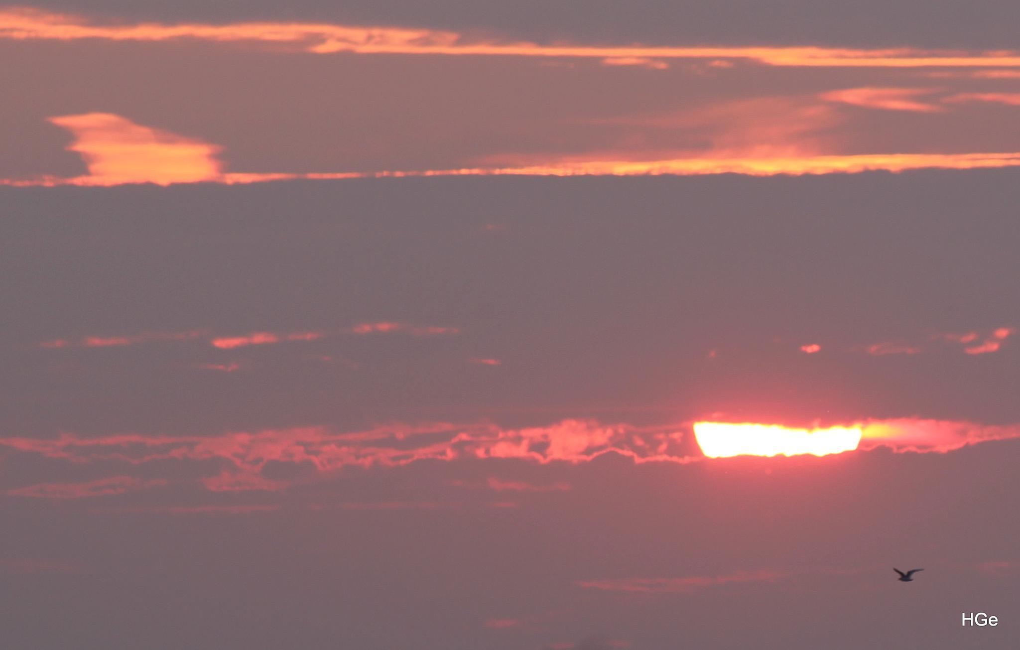 Sunset Wolderwijd near Harderwijk by Henry Geerling