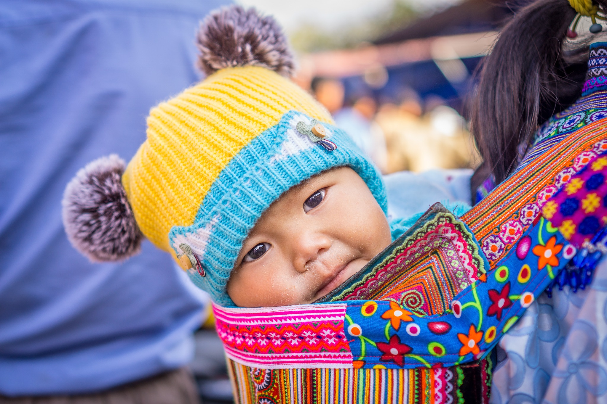 Happy Face, Bac Ha Market, Vietnam. by Gary Gillette