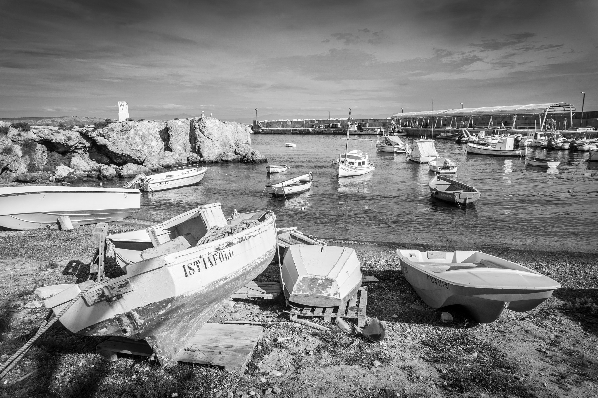 The Harbour, Tabarca Island. by Gary Gillette