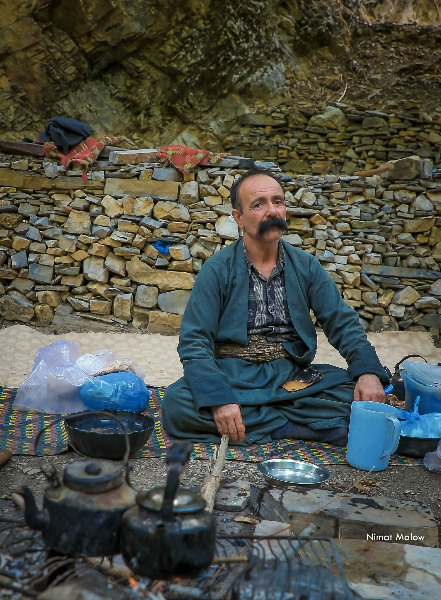 Kurdish man by Nimat Malow
