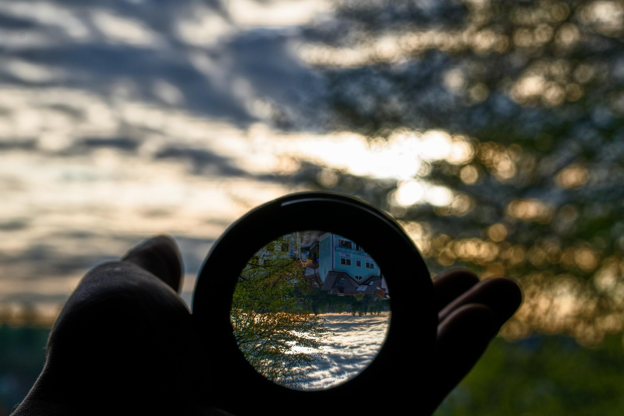 lens sunset by david freund