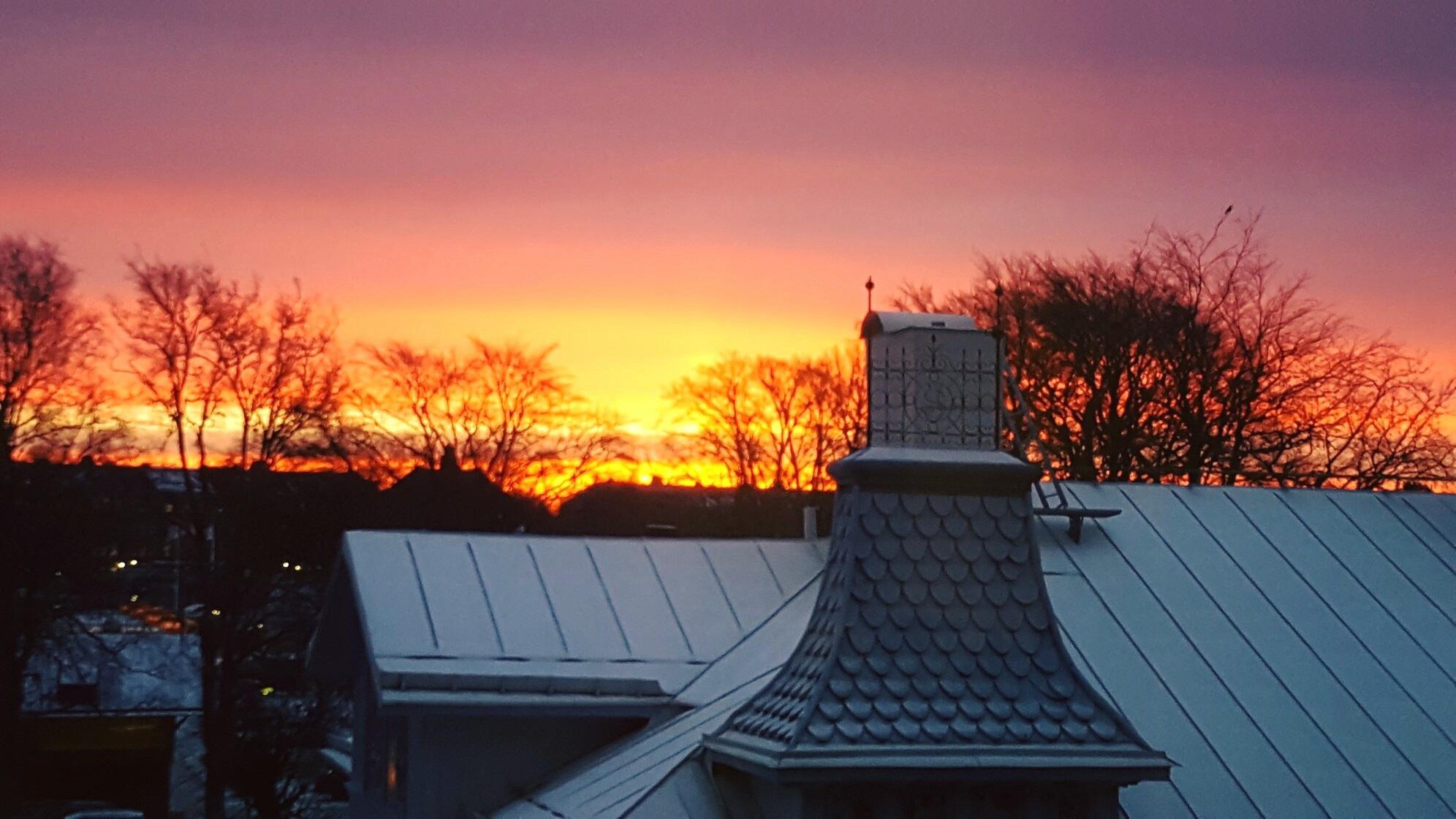 Morningsun from my office by MLY