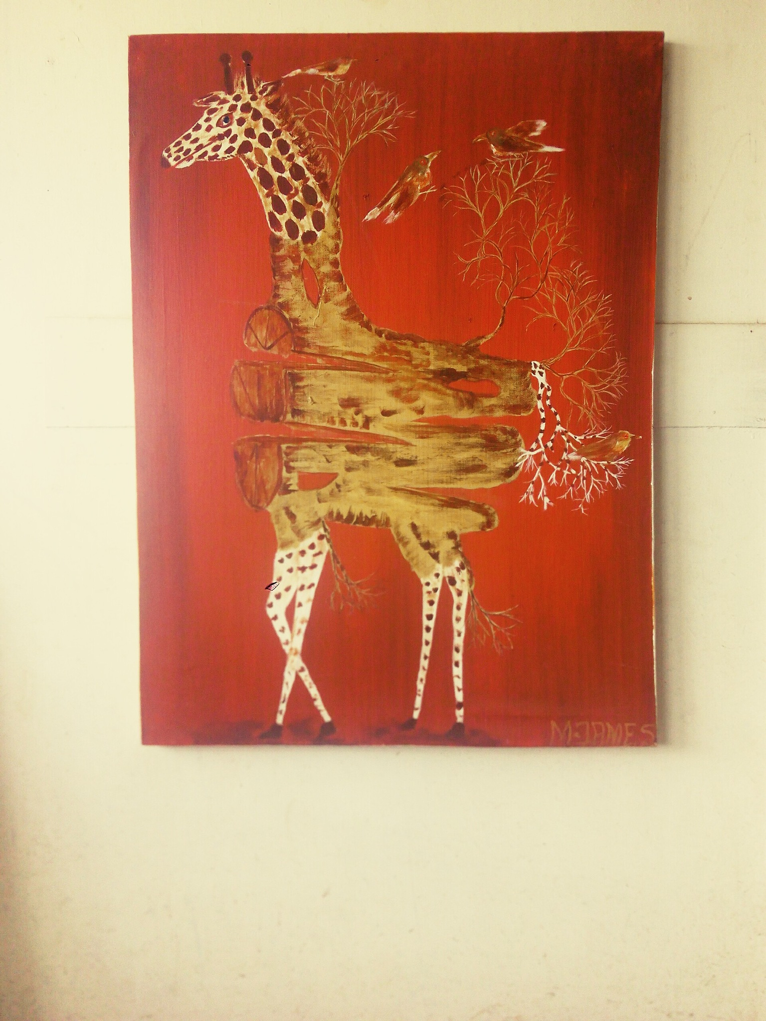a giraffe by Kamaujames Mwaura