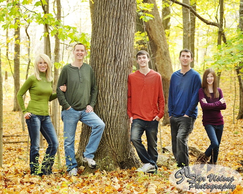 Family Portrait Fall Colors #9  by Kenneth Hawke