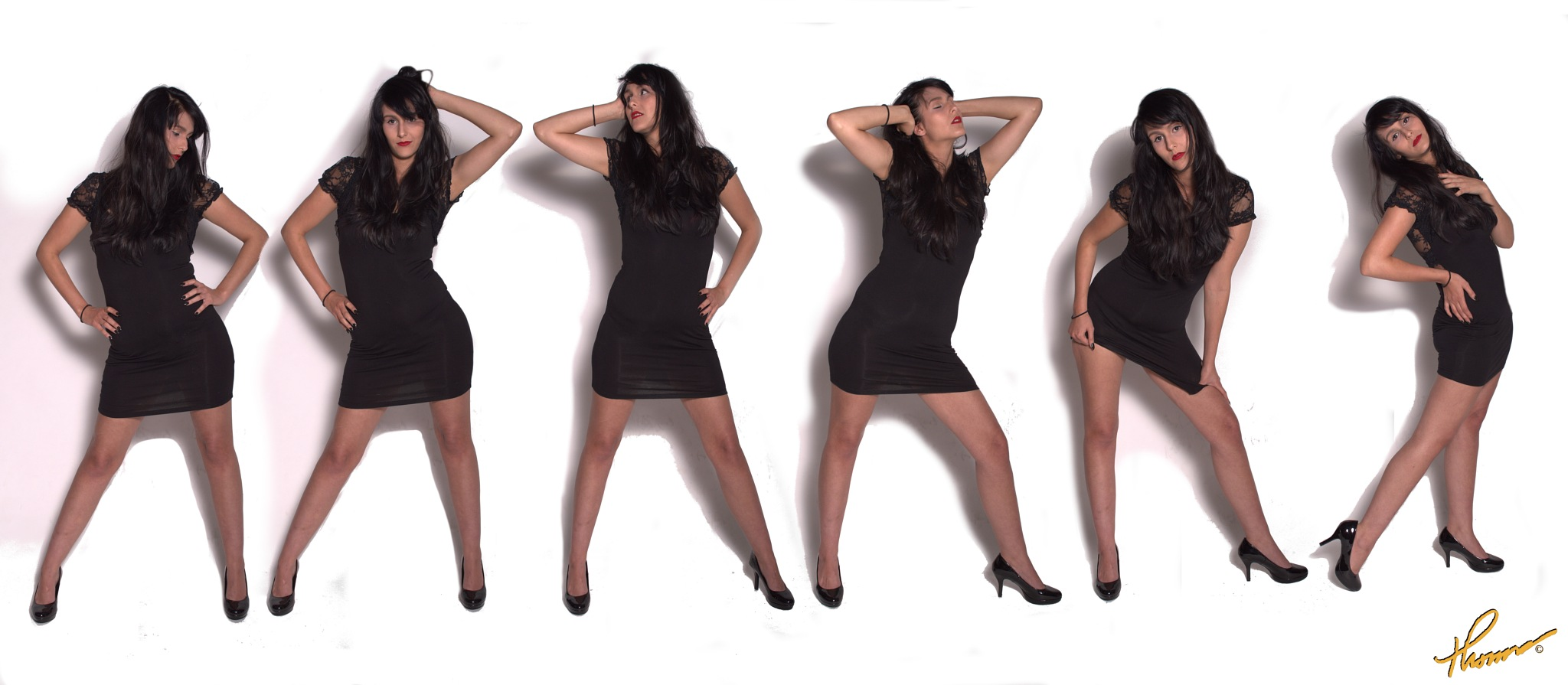 Multi Image Little Black Dress Photography by Thomas H Black Photography by Shameron Nicole Model