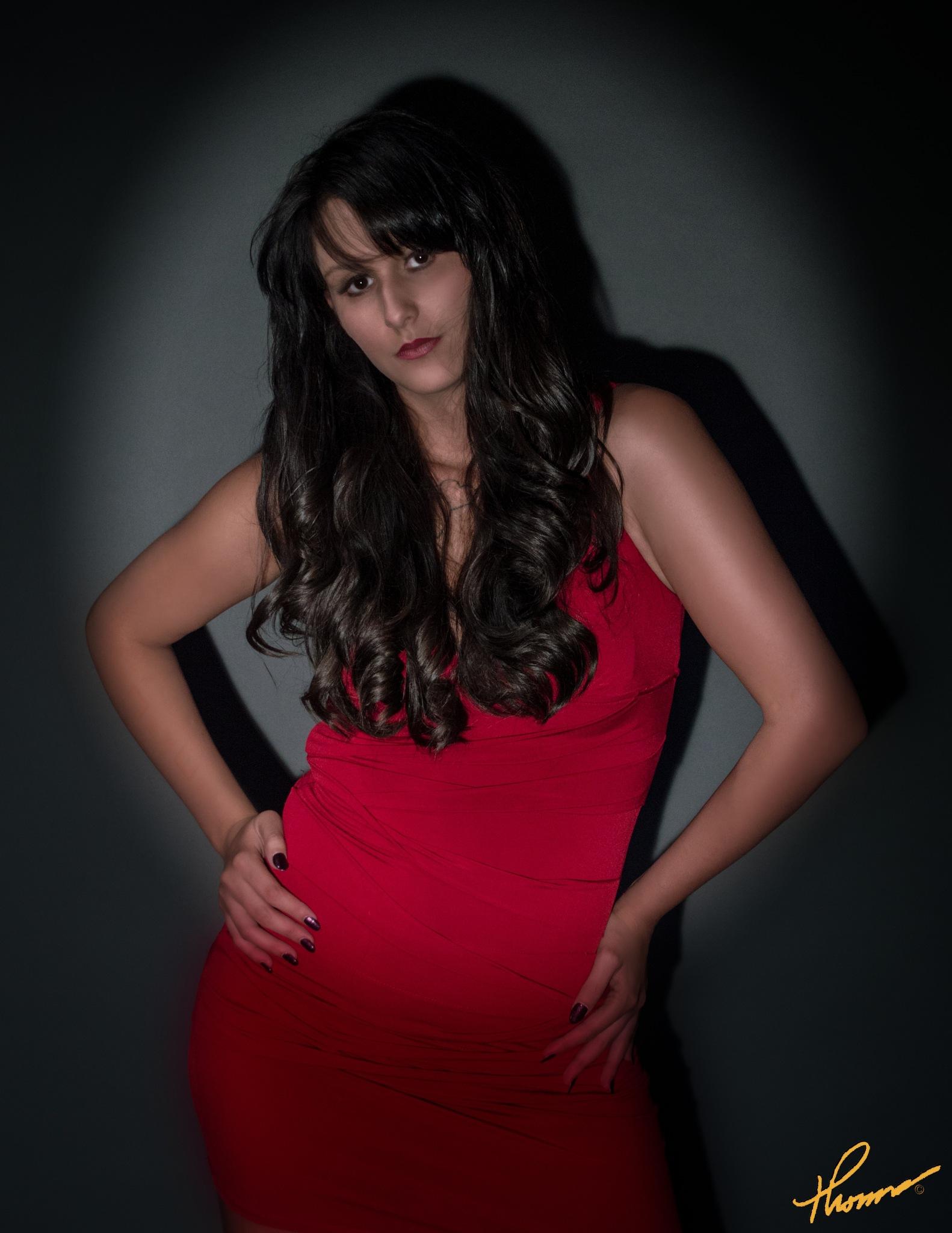 Red Dress High Fashion by Shameron Nicole Model
