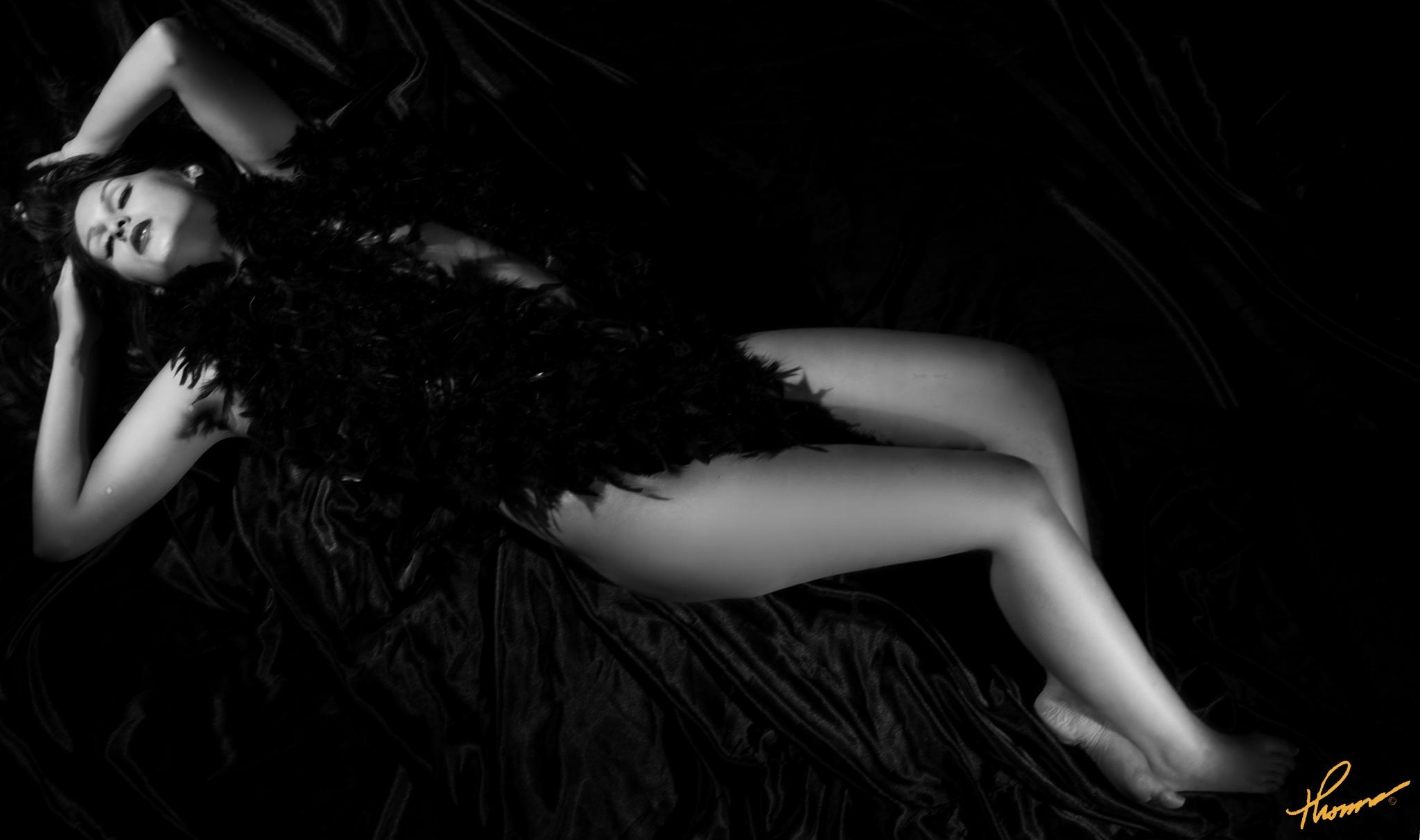 Black Satin Photo by Thomas H Black Photography by Shameron Nicole Model