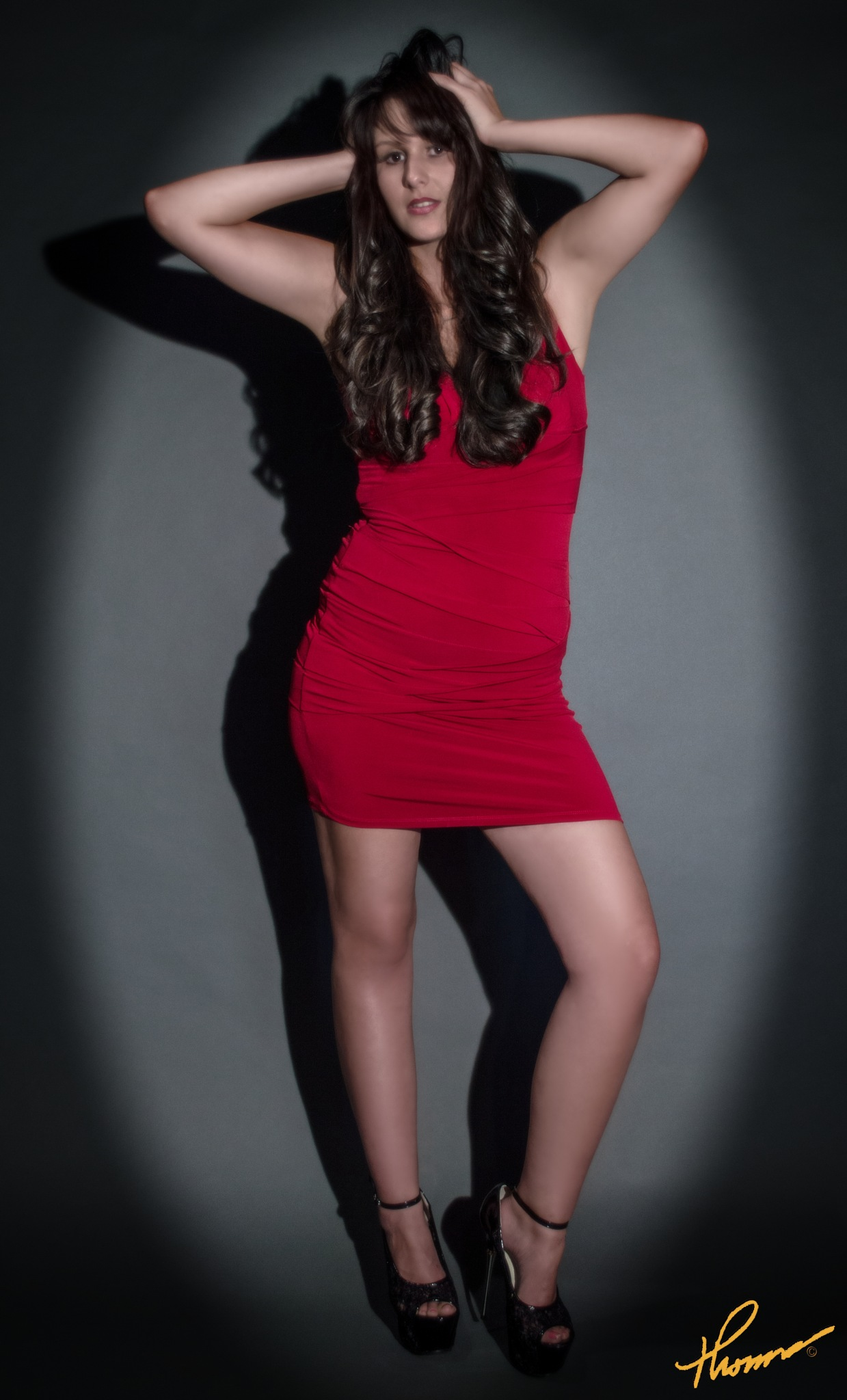 High Fashion Red Dress Photo by Thomas H Black Photography by Shameron Nicole Model