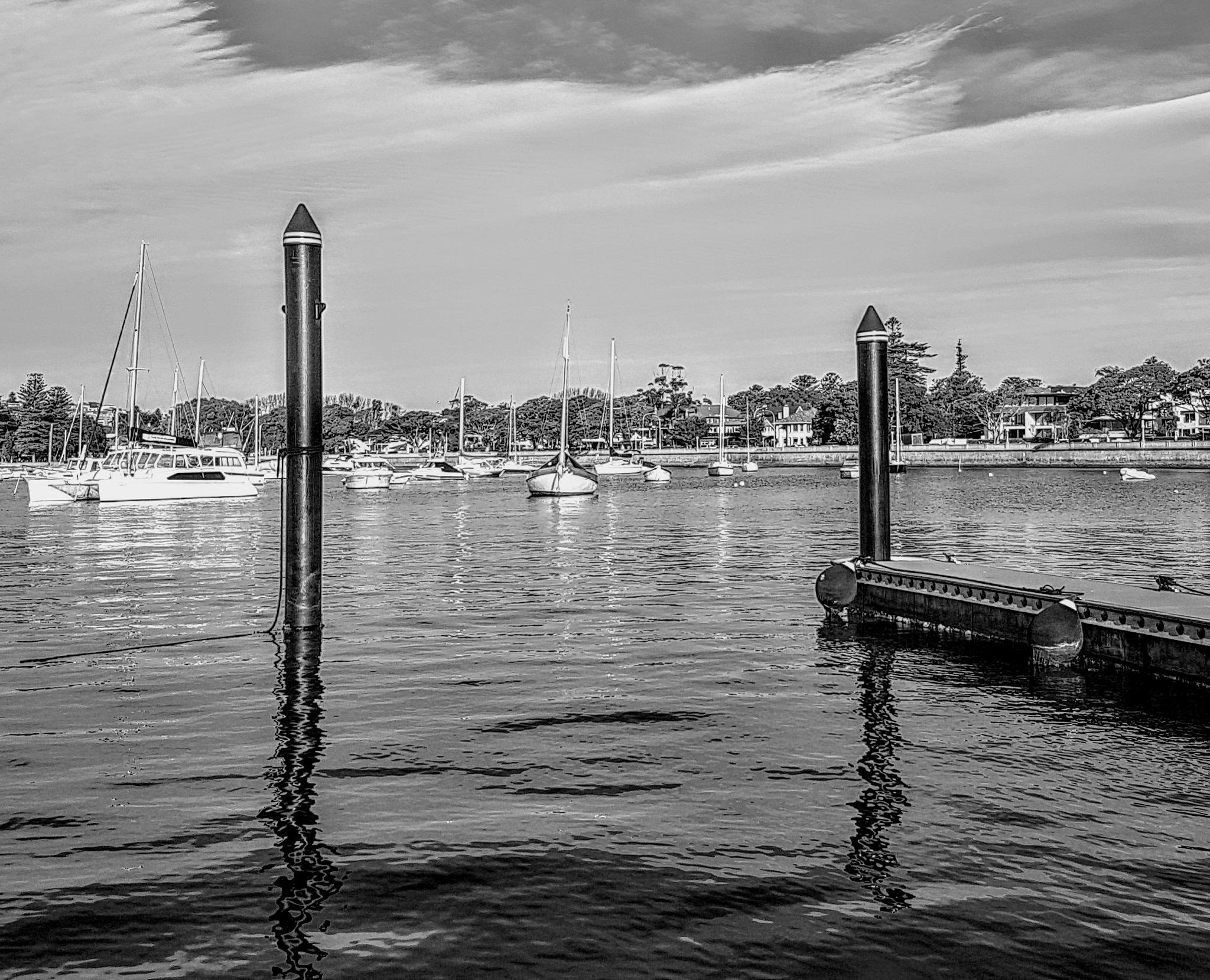 Looking across the marina.... by Amanda Savage
