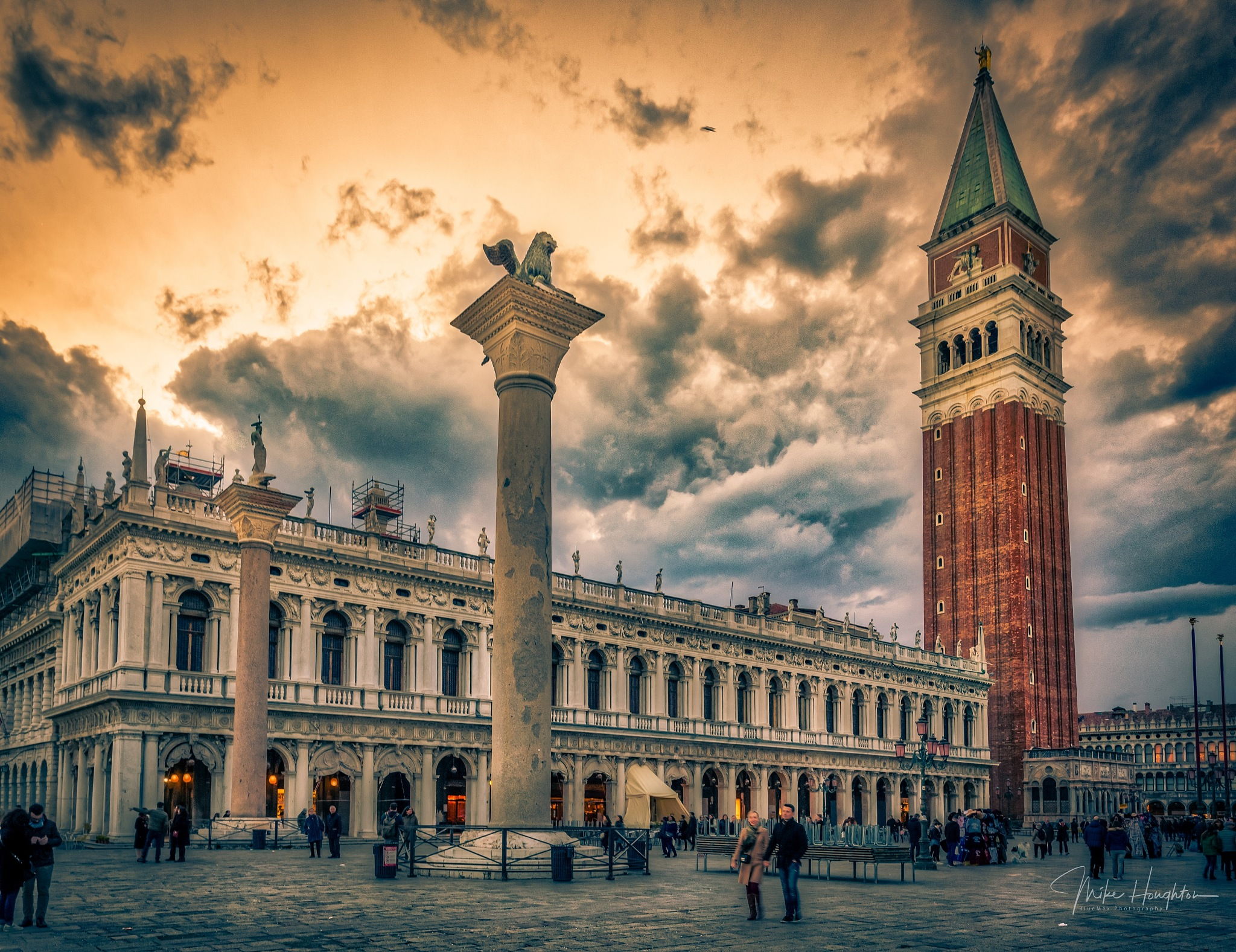 Entrance to the Piazza San Marco, Venice, Italy. by BlueMax Photography
