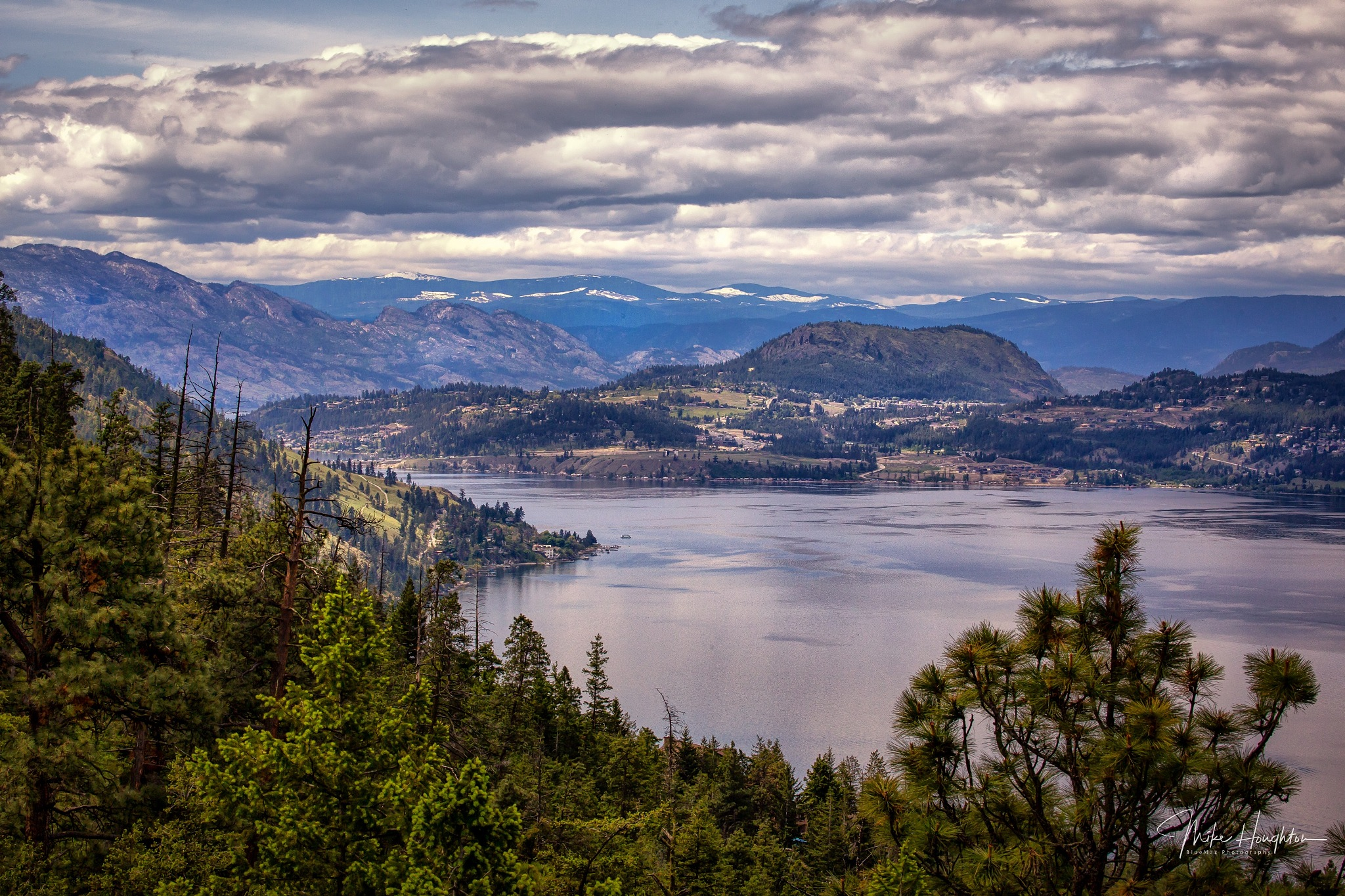 Lake Okanagan looking towards West Kelowna. by BlueMax Photography
