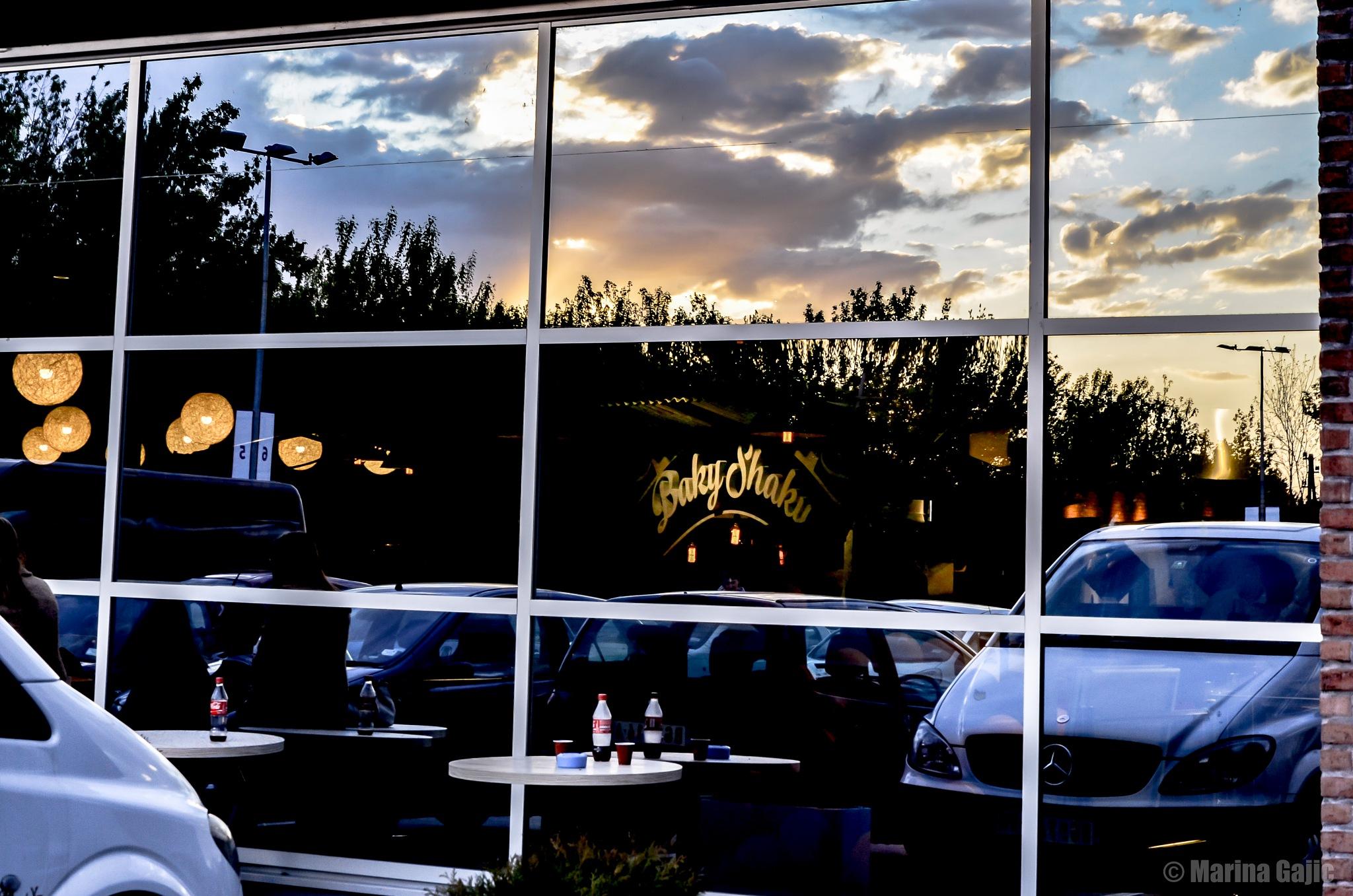 Reflection sunset by Marina Gajic