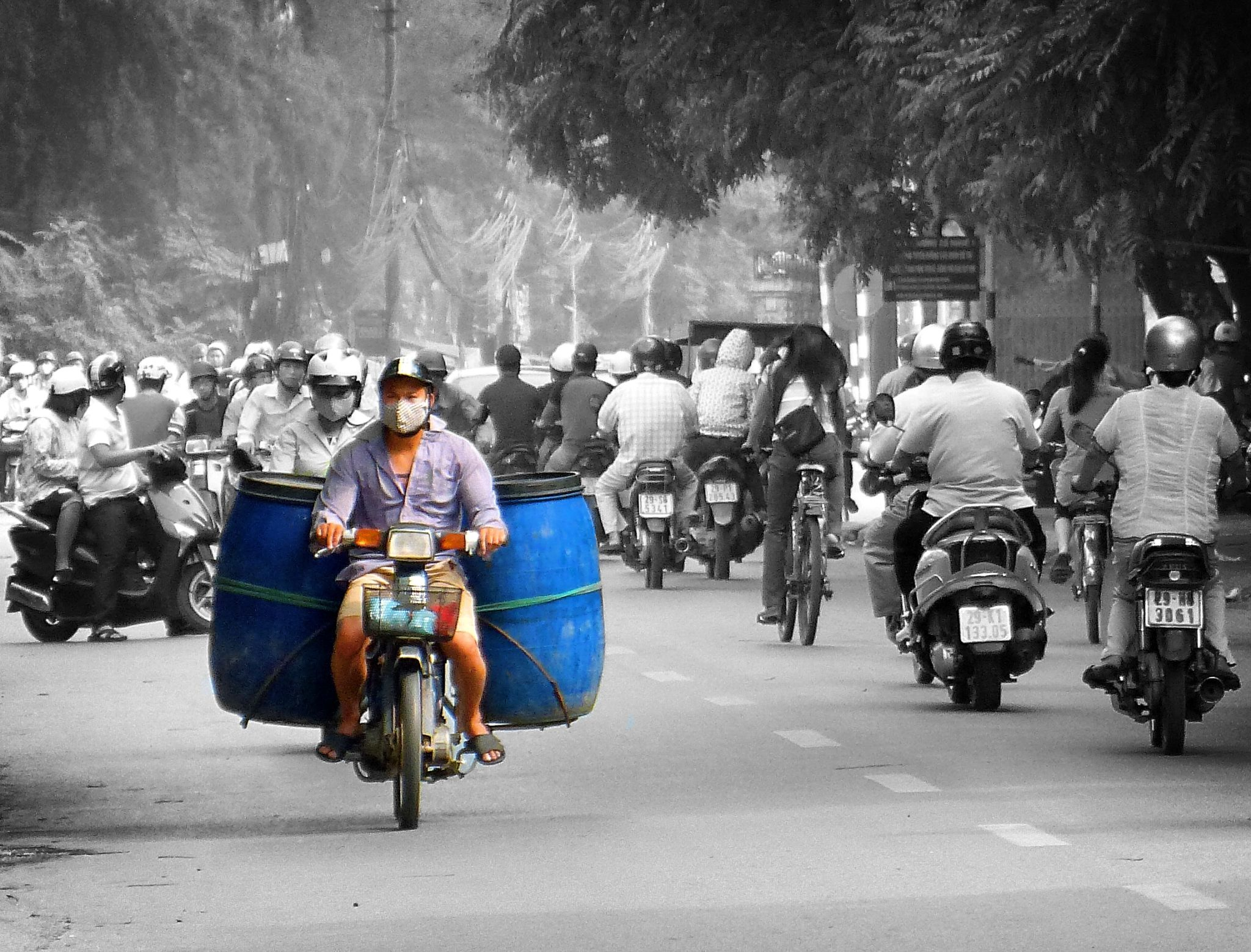 Hanoi  . Blue drums by marcosarli