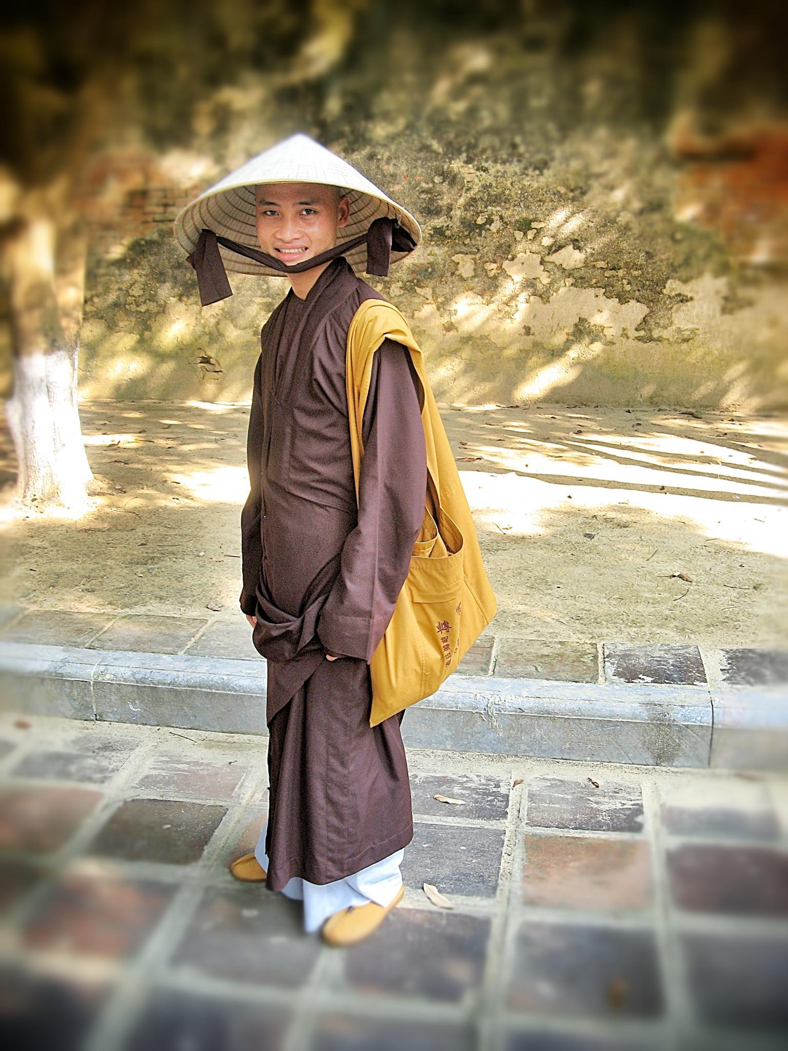 Smiling Monk. by Michael Lyon