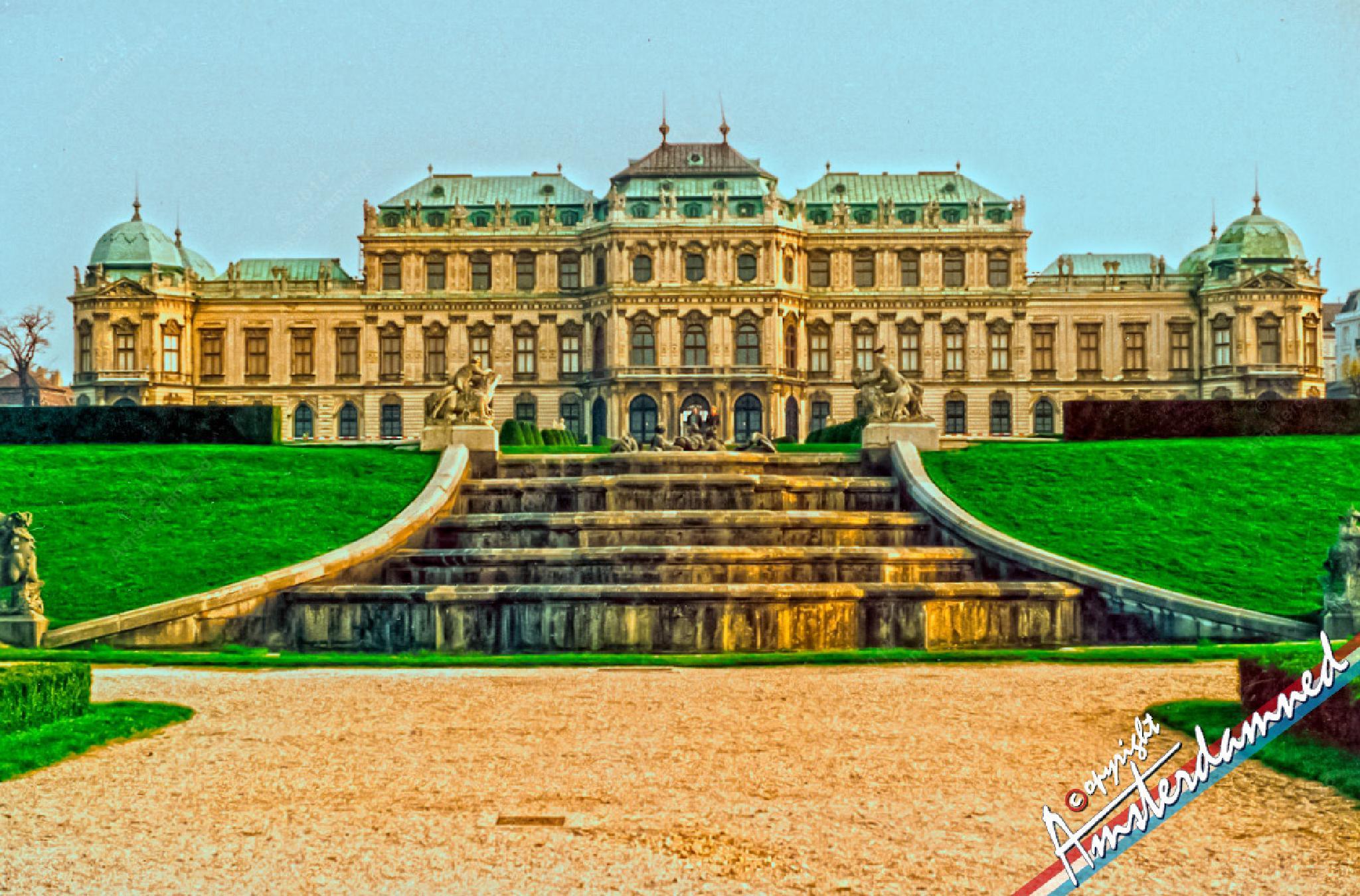 Photo in Cityscape #amsterdamned #austria #schloss #castle #vienna #wien #sky #garden