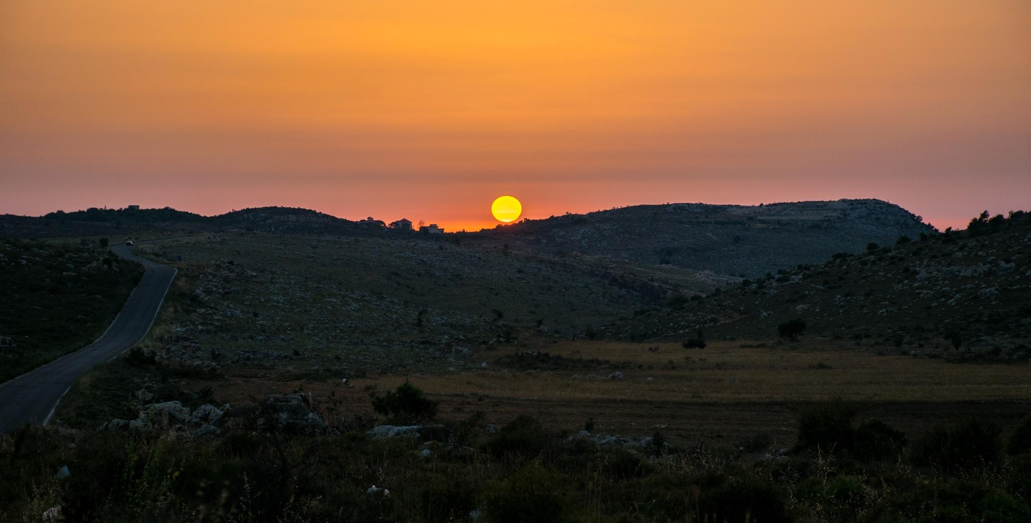 sunset by Mohamad Zinati
