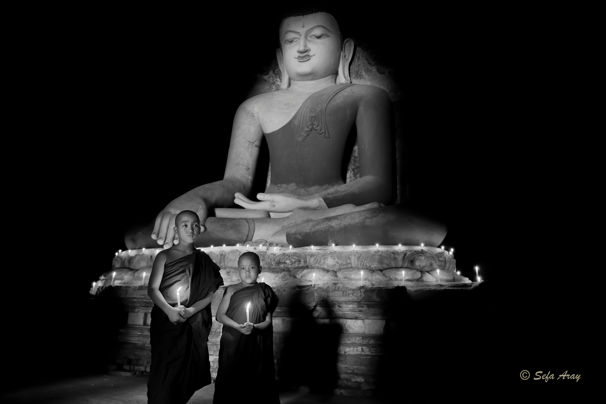Buddha and Student Monk by Sefa Aray