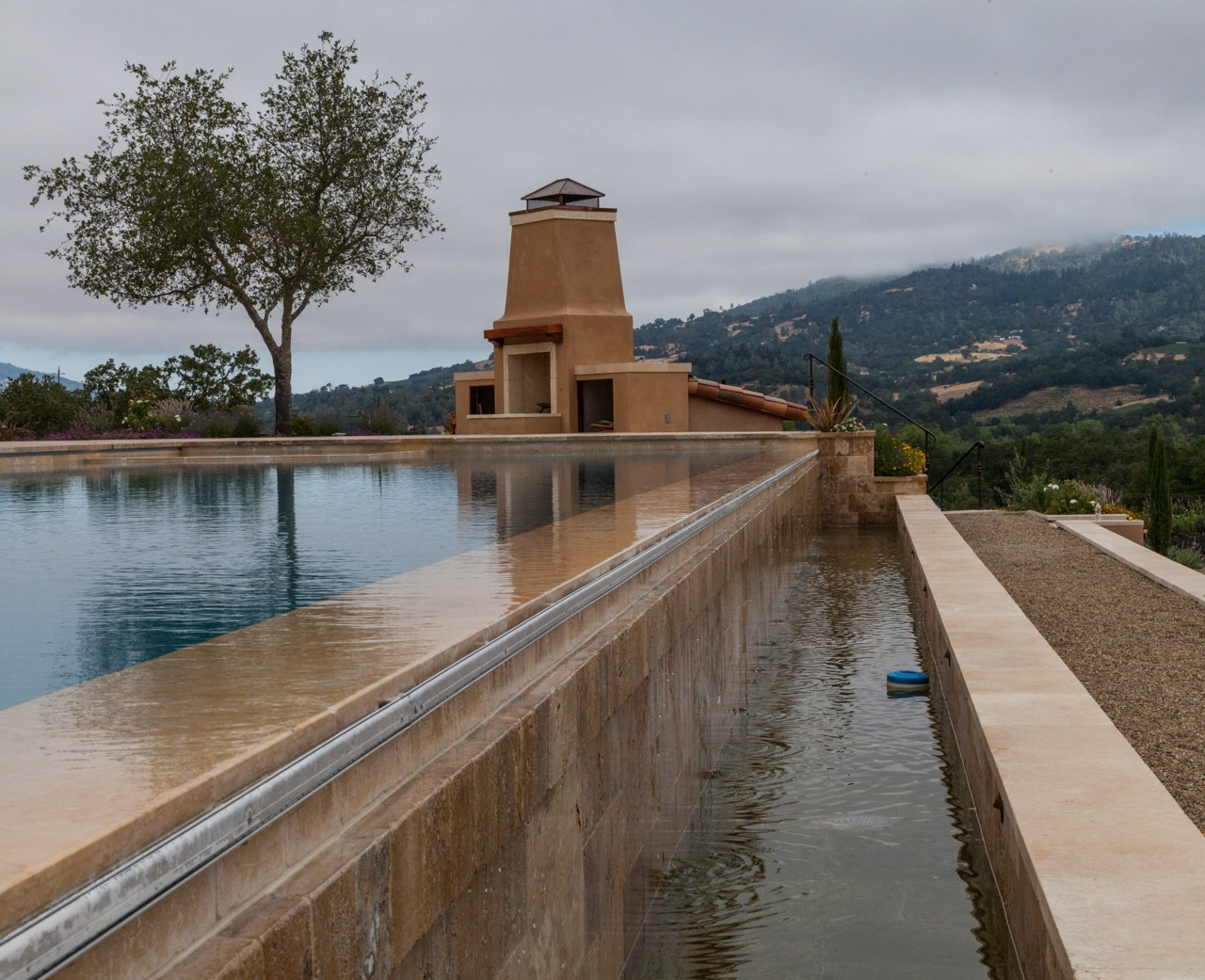 Pool and fireplace in Sonoma County by bwh2017