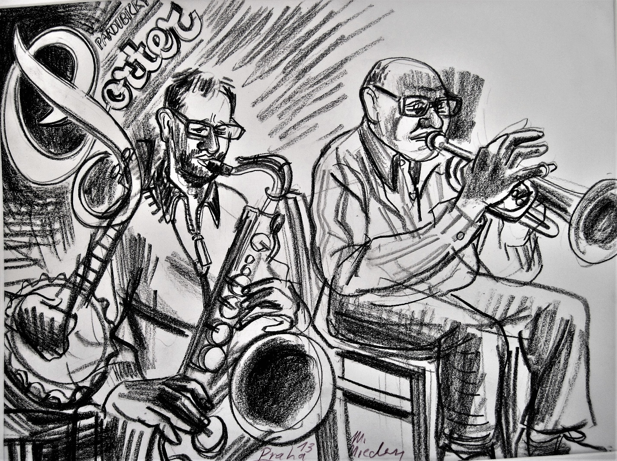 Porter Blues Full Drawing by Markus Nieden