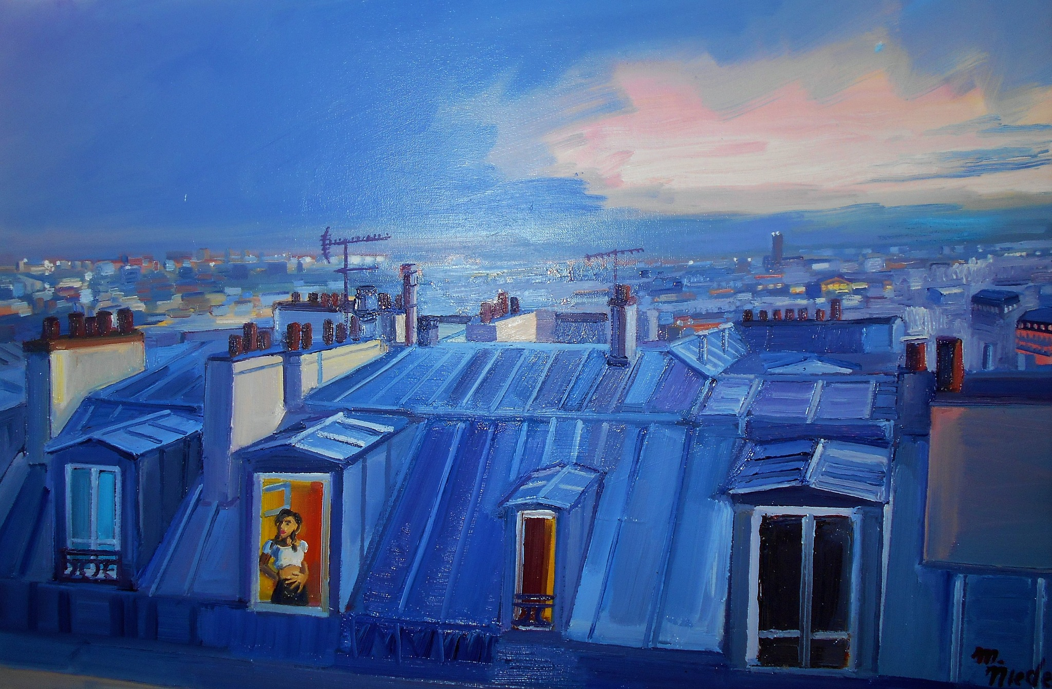 Paris Roofs,Full Size by Markus Nieden
