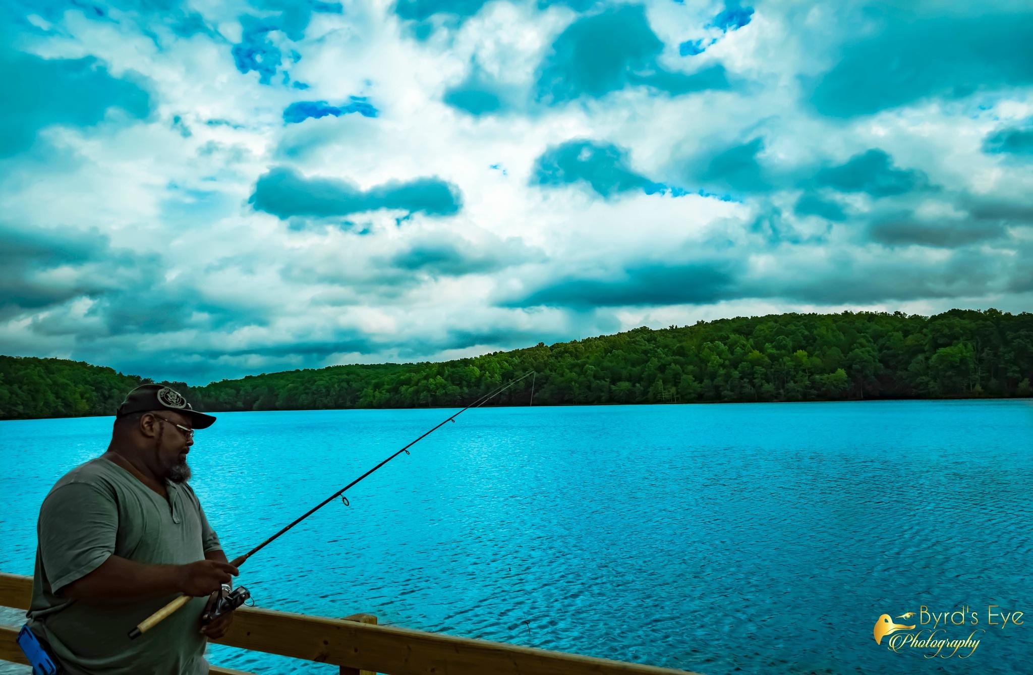 Fishing Dock  by Antonio Byrd
