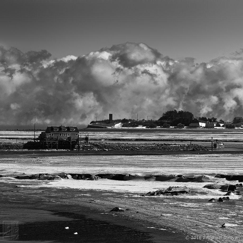 "The Sea Fog Beyond 4th Cliff (30""x30"") by J Michael Sullivan"