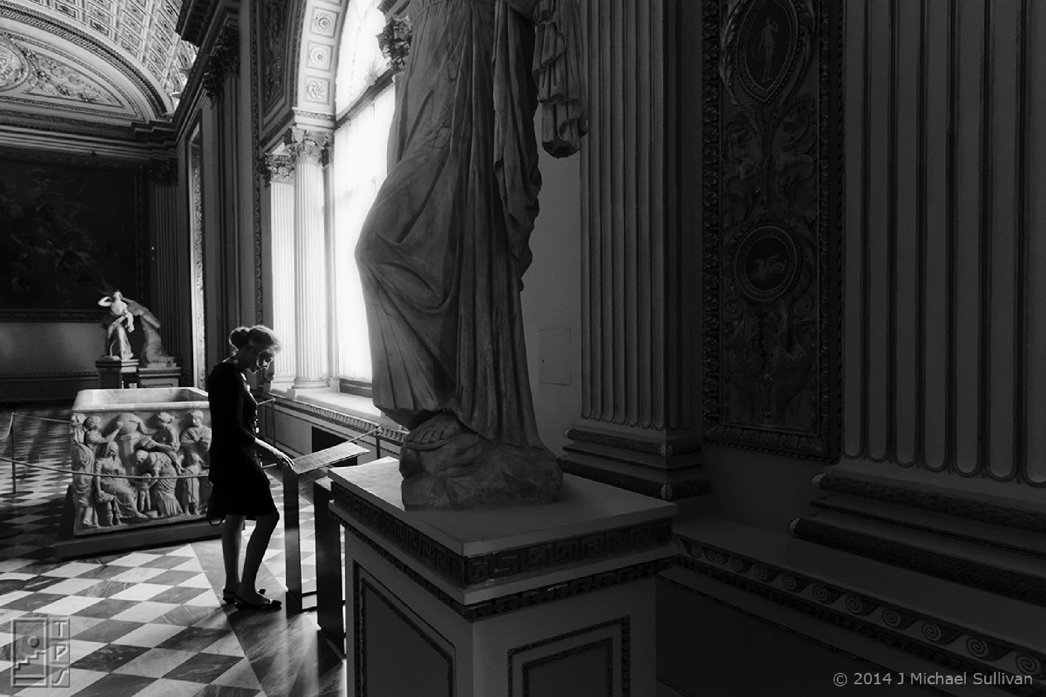 "Elegant Patron, Uffici, Florence (16""x24"") by J Michael Sullivan"