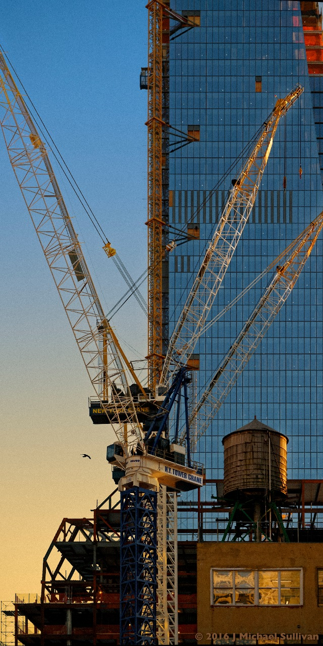 Study #1: NYC building cranes by J Michael Sullivan