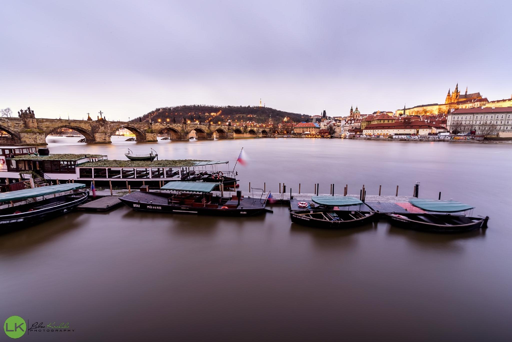 Prague boats by Y-photo