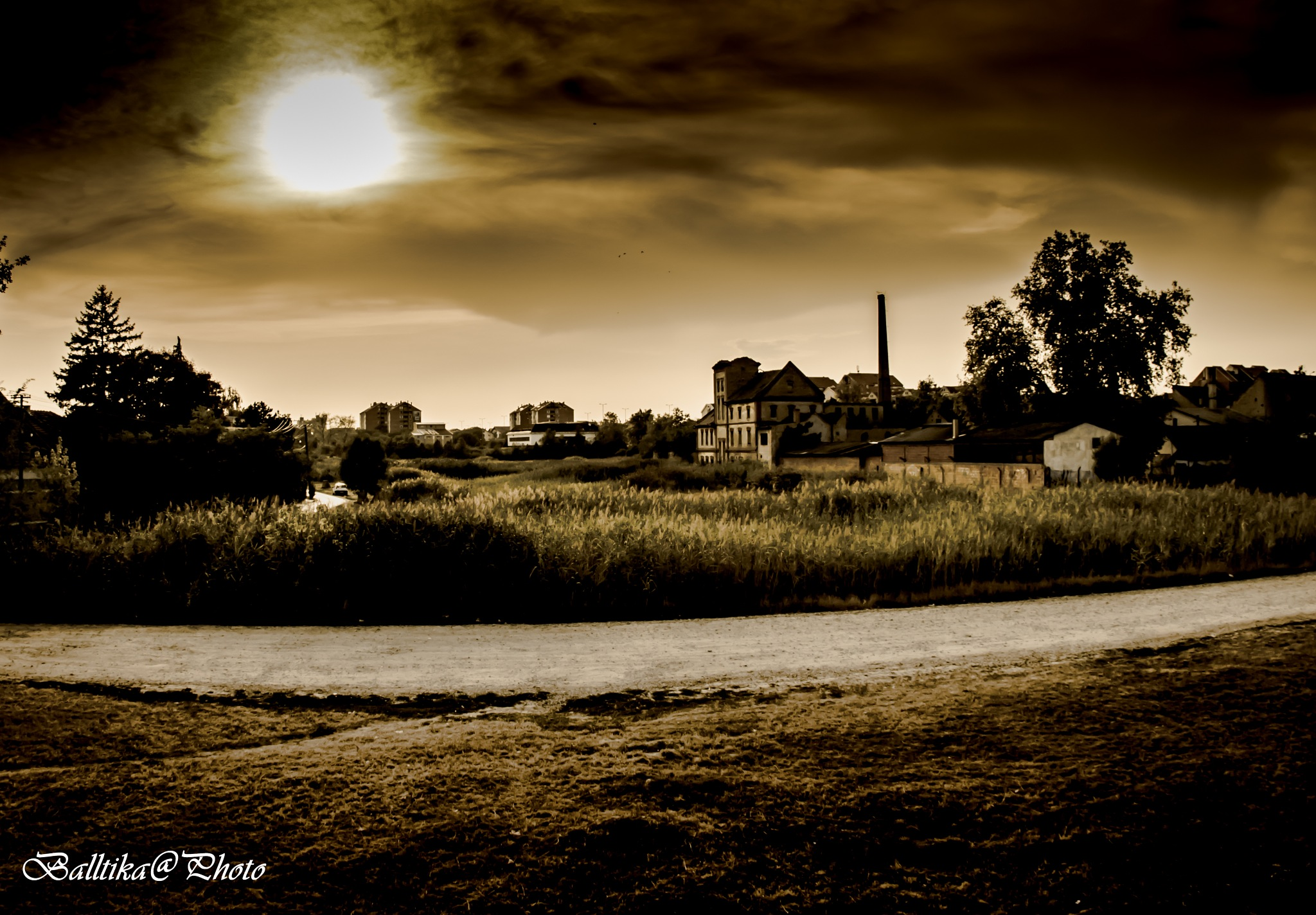 Town in the evening by Sandrin