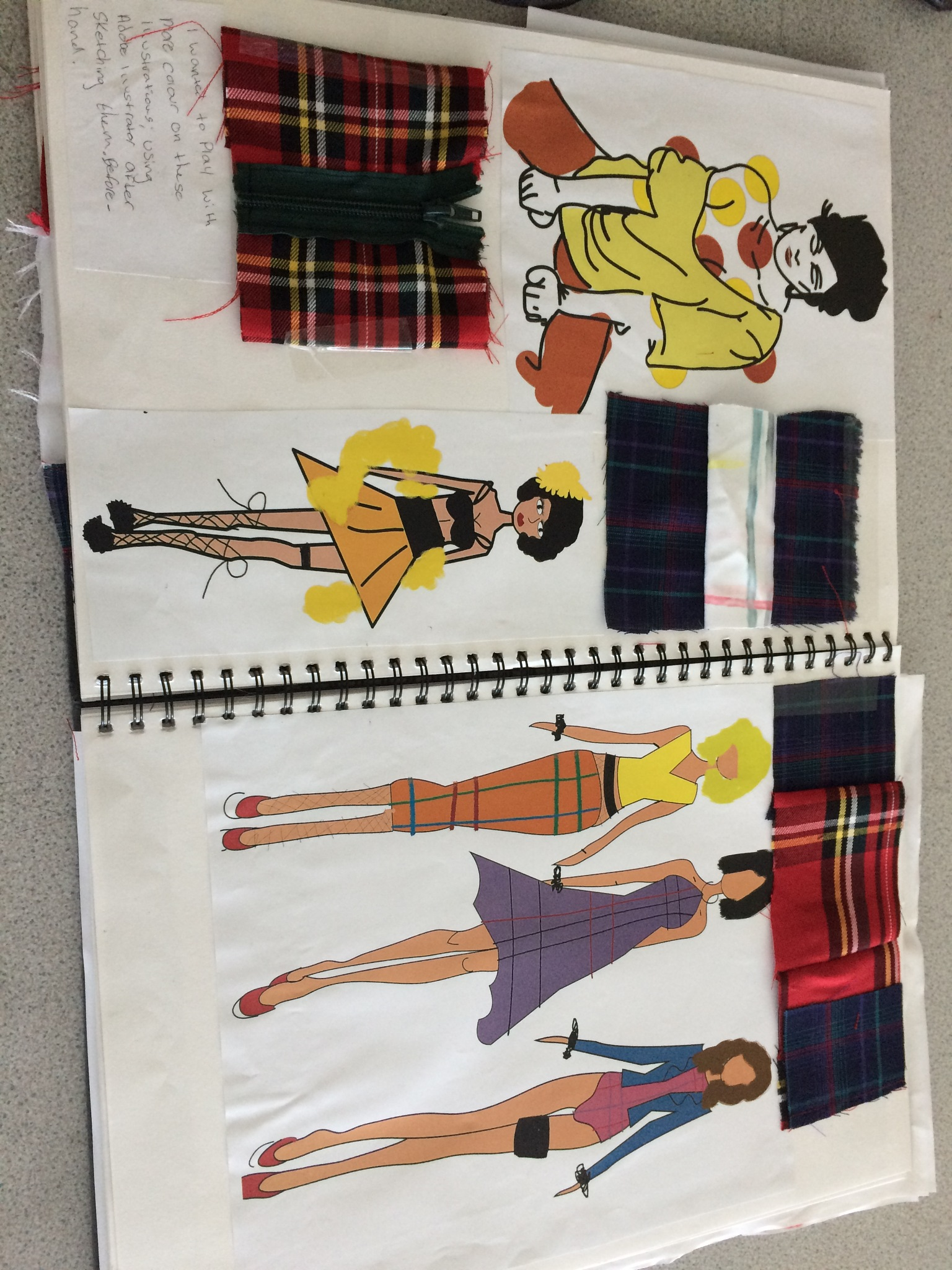 Sketch book and a few of my illustrations inside  by Shannon Hargreaves
