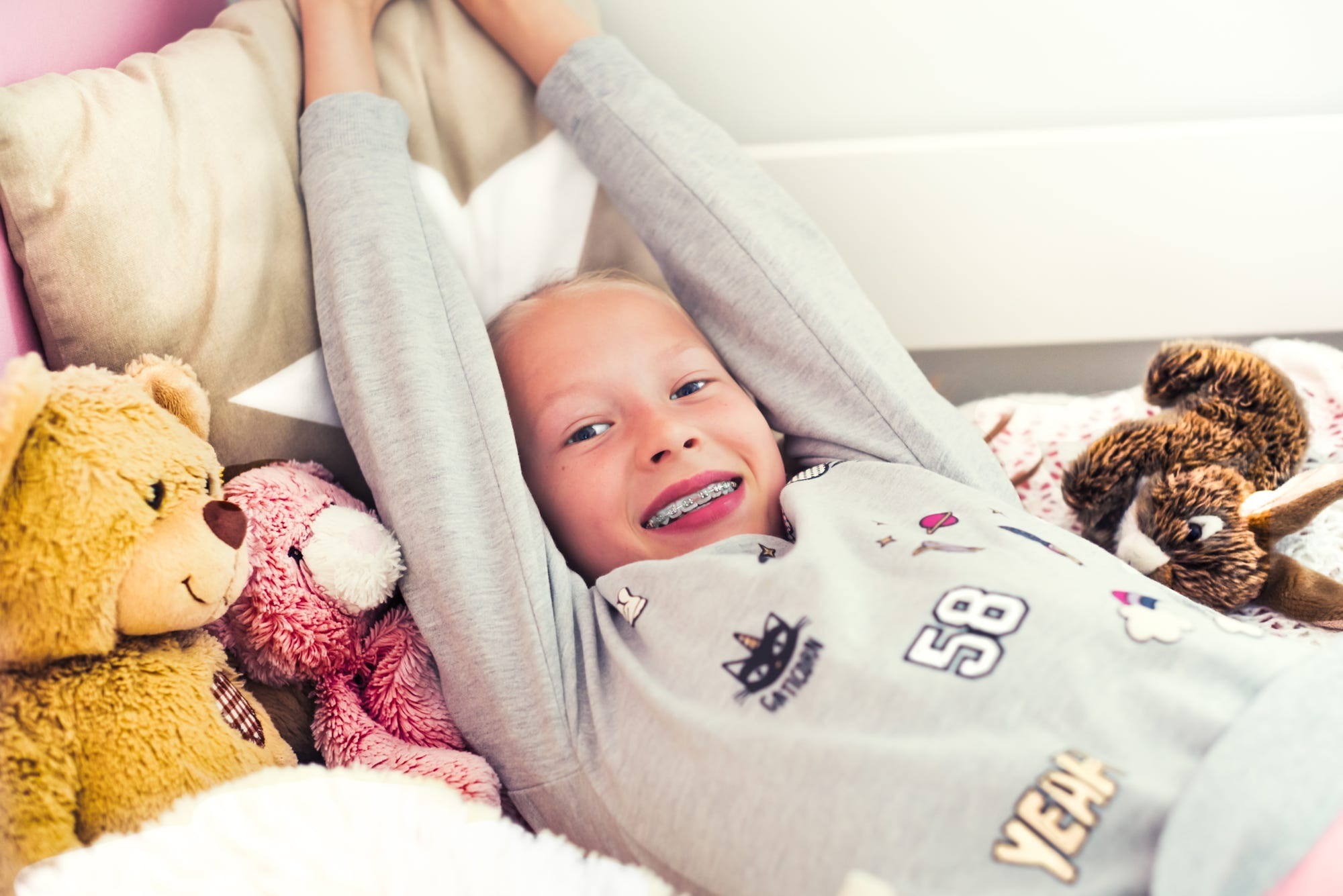 Nanna captured the little sister  bed by Juuso Timonen