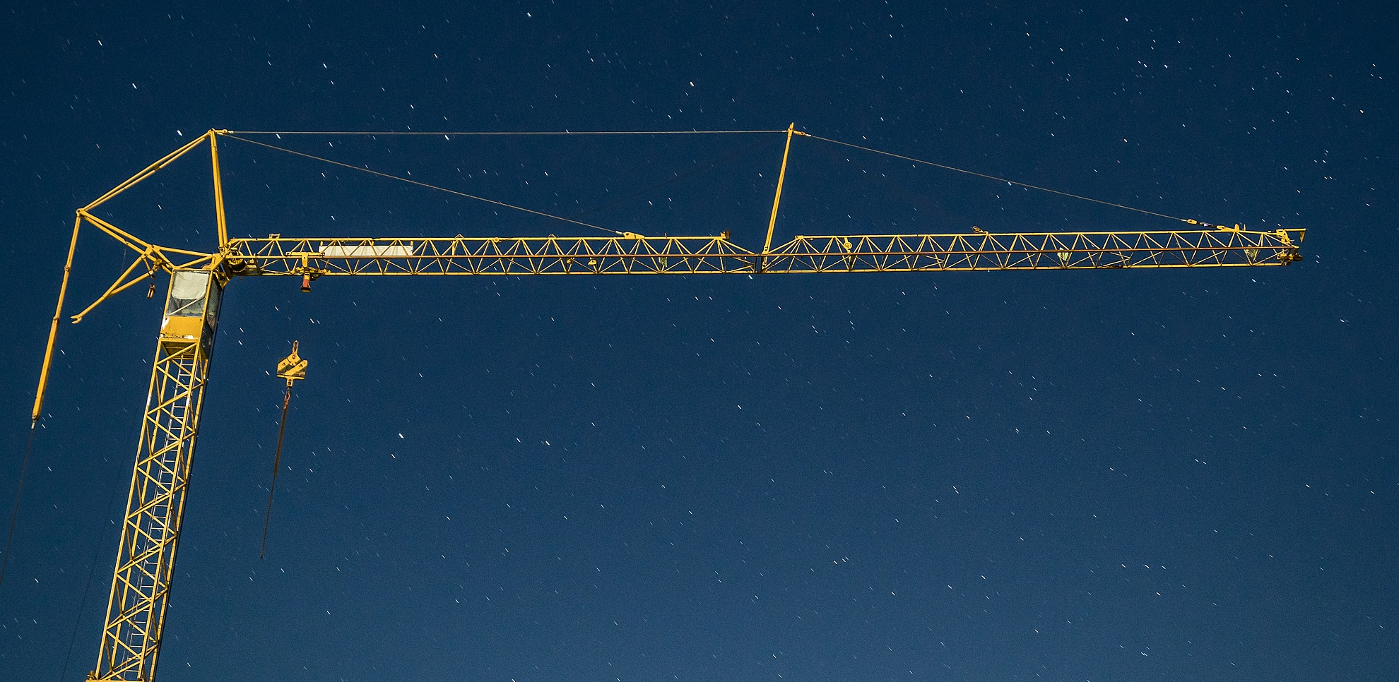 Crane at night by AK Photography