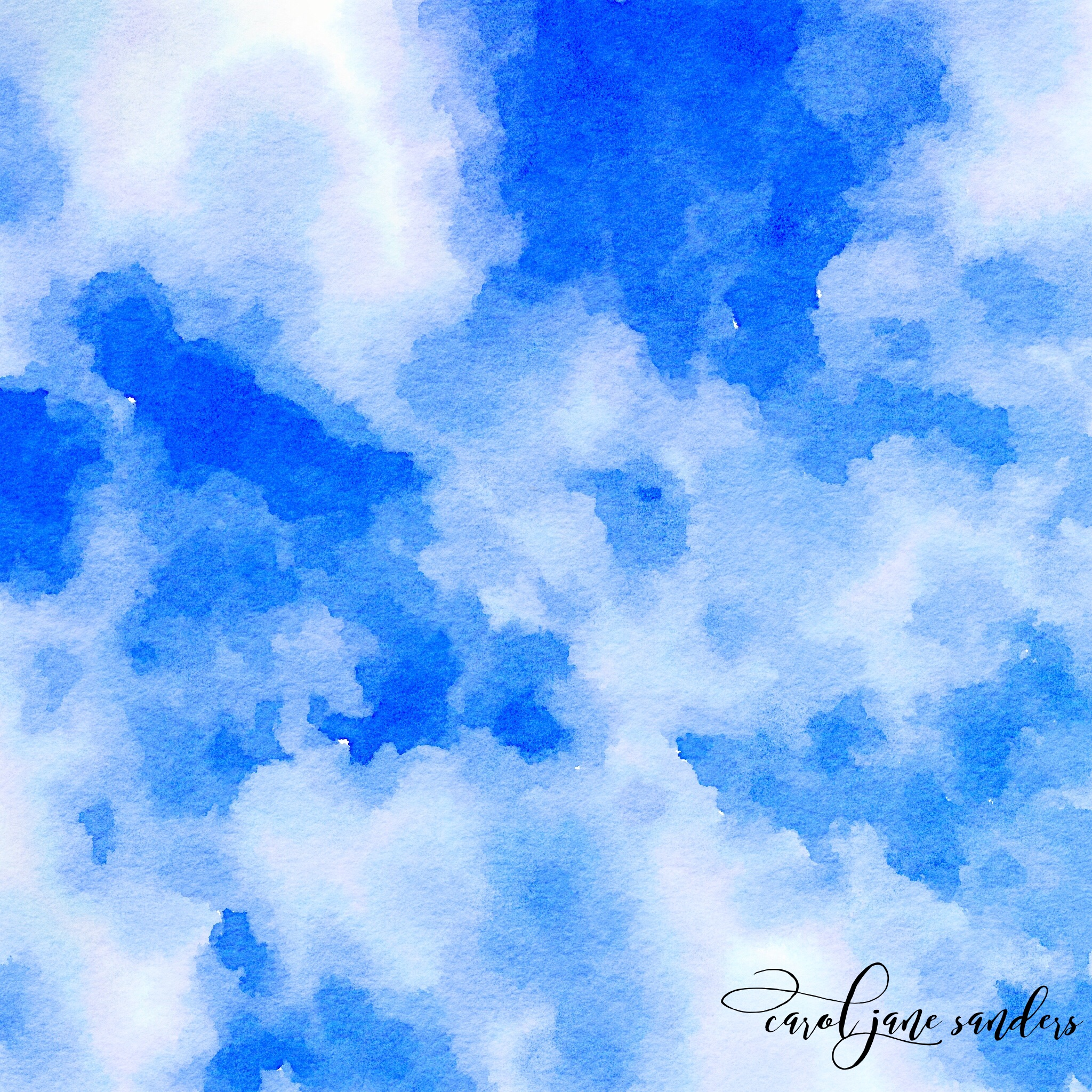 Blue Sky Watercolour  by Carol Sanders