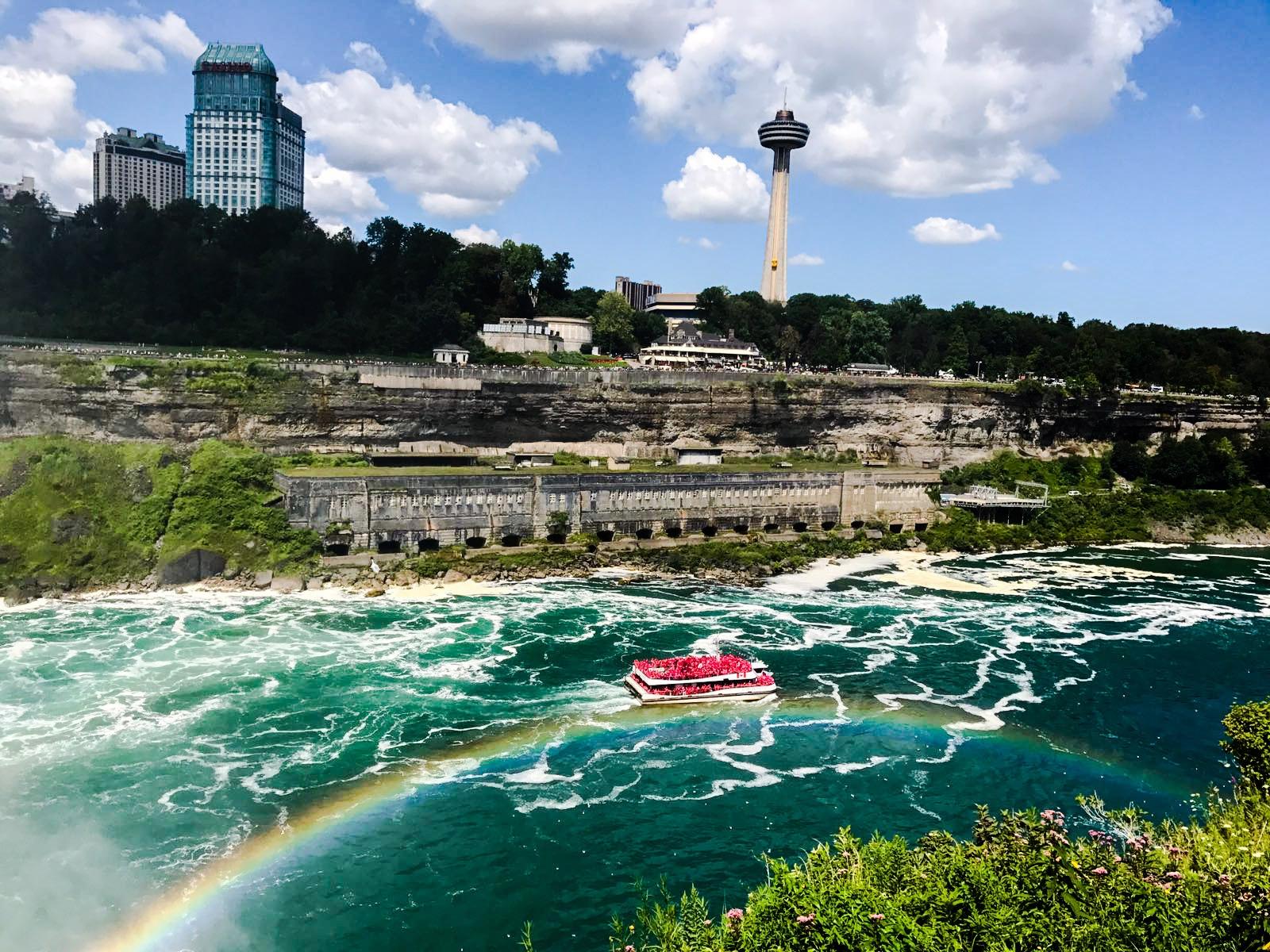 Rainbow over Niagara river by Sneha Ghosh