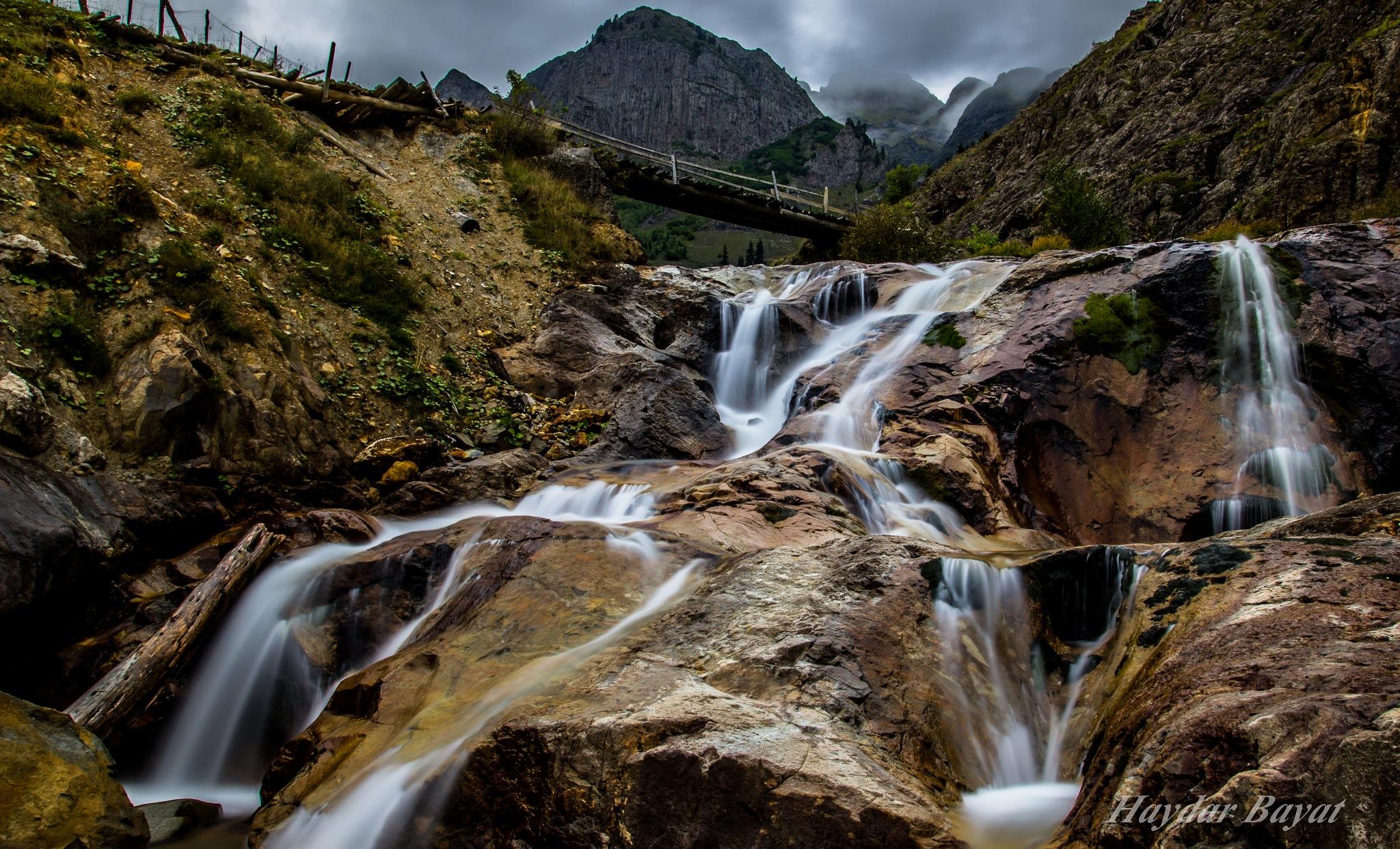 Waterfall by Haydar Bayat
